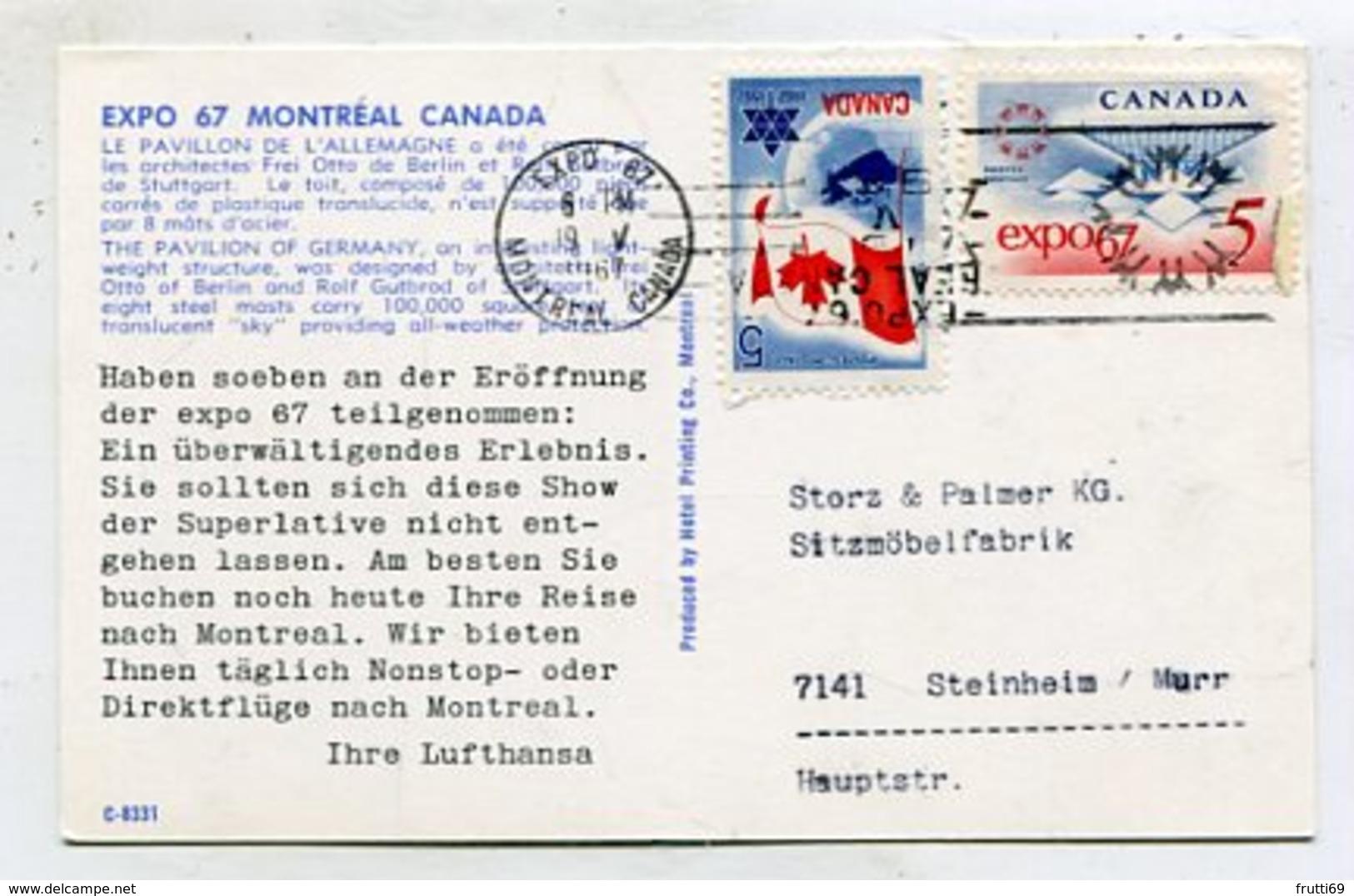 CANADA - AK 356763 Québec - Montréal - EXPO 67 - Montreal