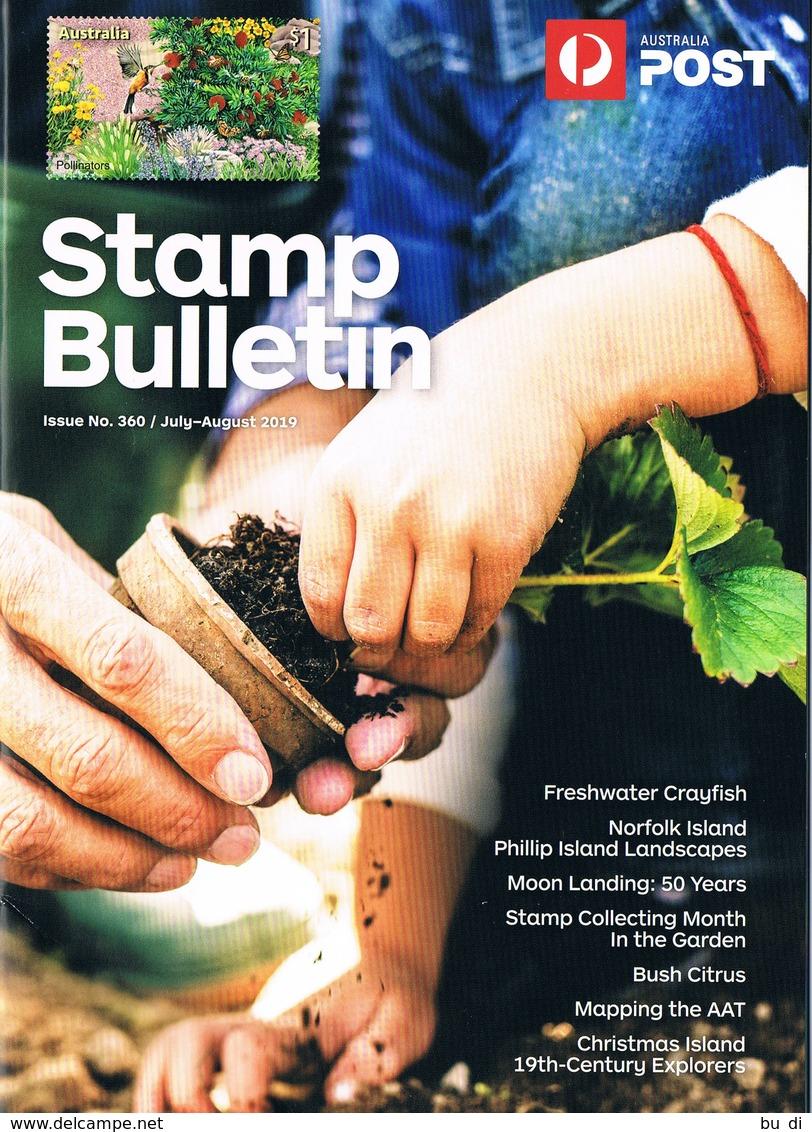 Australien - Australia - Stamps Bulletin - Juli / Aug 2019 - Englisch, Mondflug, Garten - Inglesi (dal 1941)