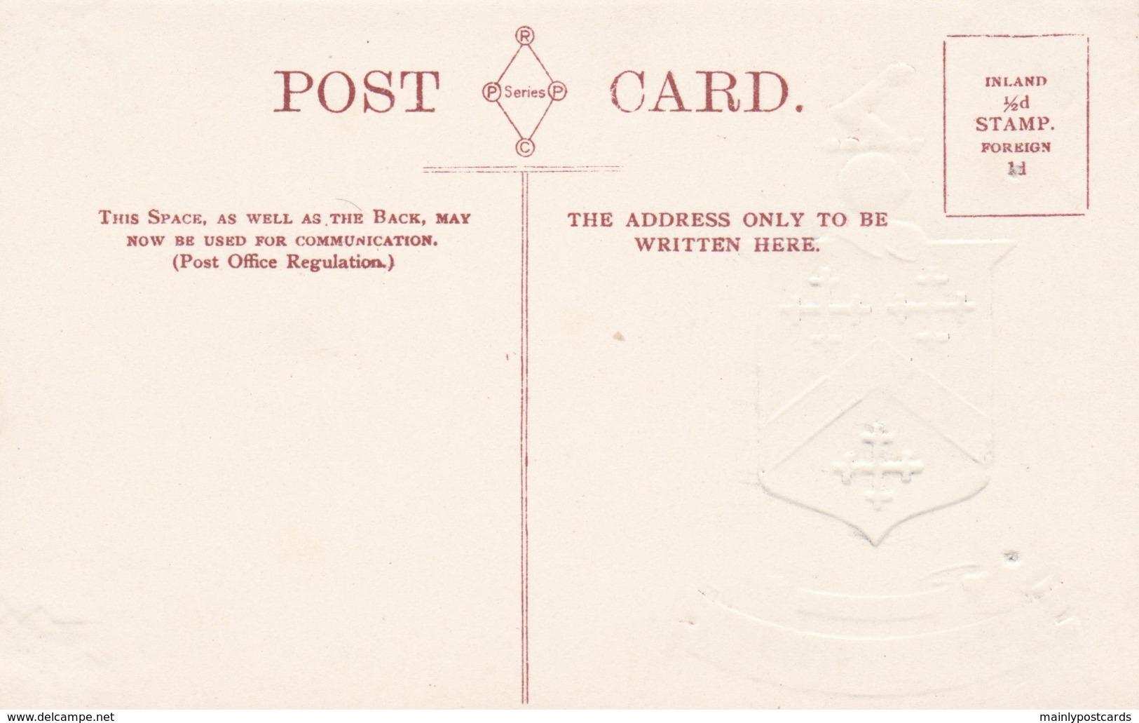 AO04 Coat Of Arms Of Poet Laureate  Robert Southey - Embossed - Writers