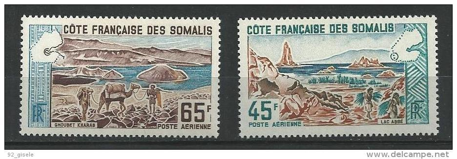 "Cote Somalis Aerien YT 43 & 44 (PA) "" Sites "" 1965 Neuf** - Unused Stamps"