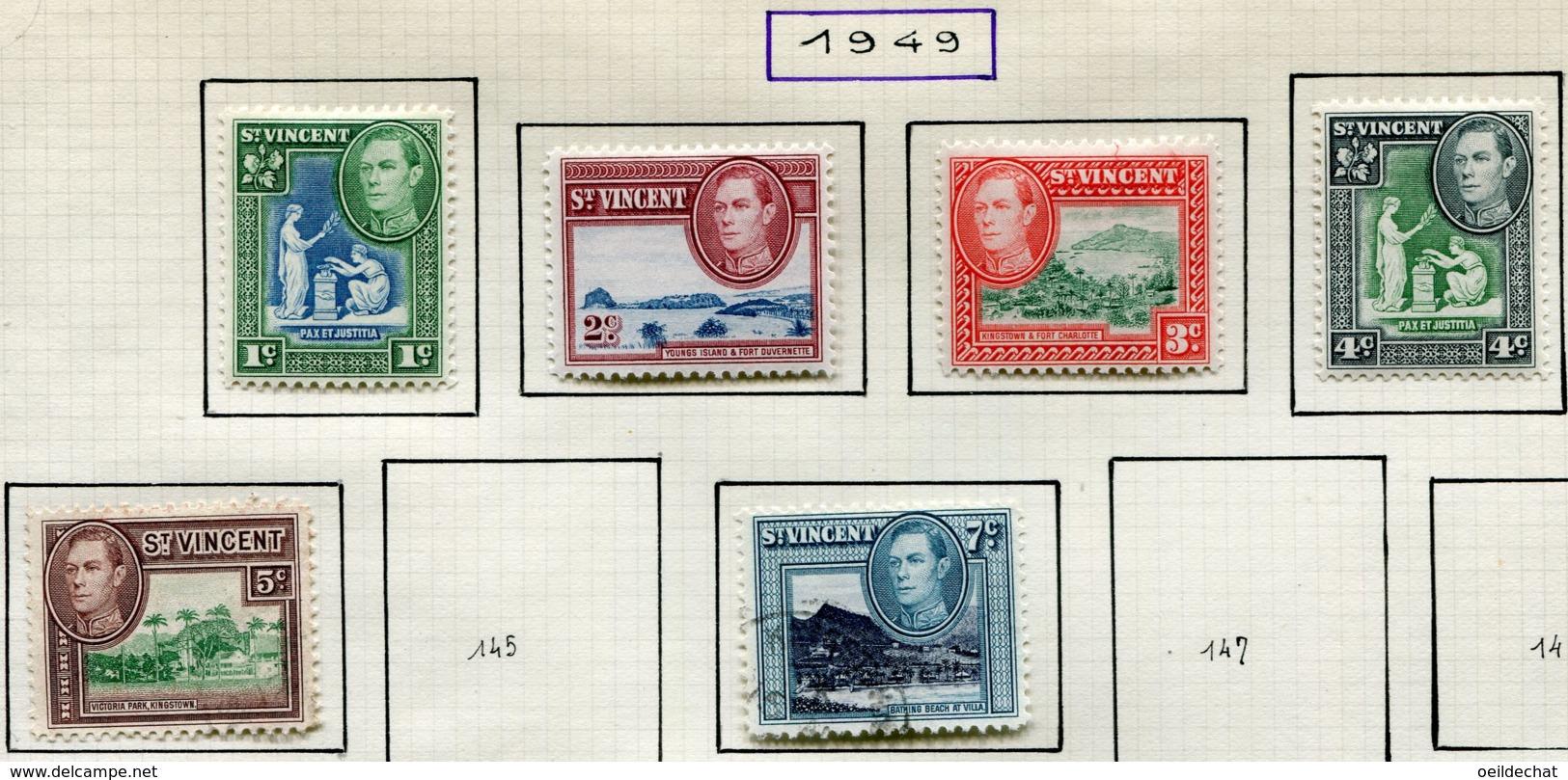 13617 SAINT-VINCENT Collection Vendue Par Page  N° 140/4, 146, 188, 246 °/ **    1949-69    B/TB - St.Vincent (...-1979)