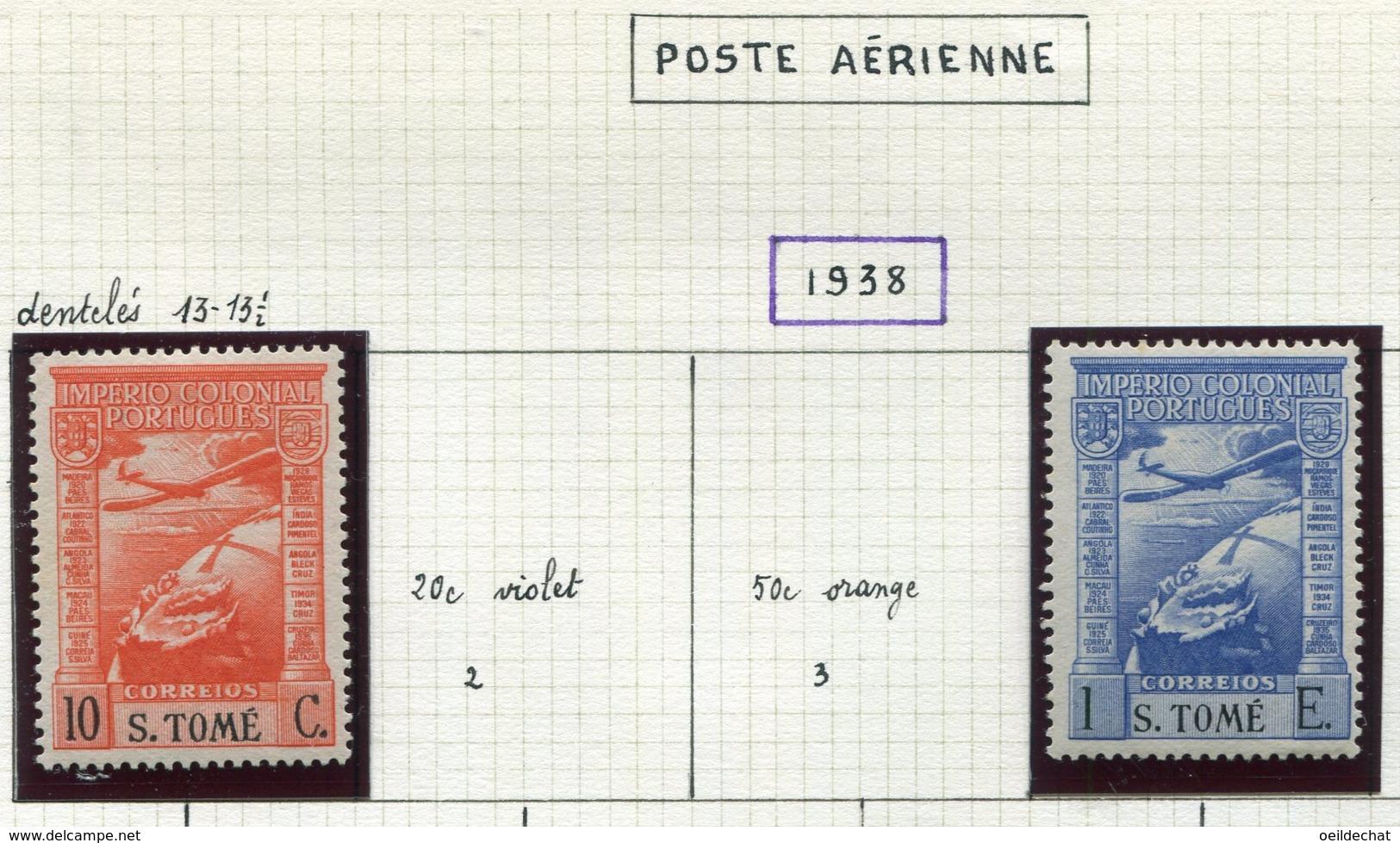 13608 SAINT-THOMAS Et PRINCE Collection Vendue Par Page PA 1, 4 *   1938    TB - St. Thomas & Prince