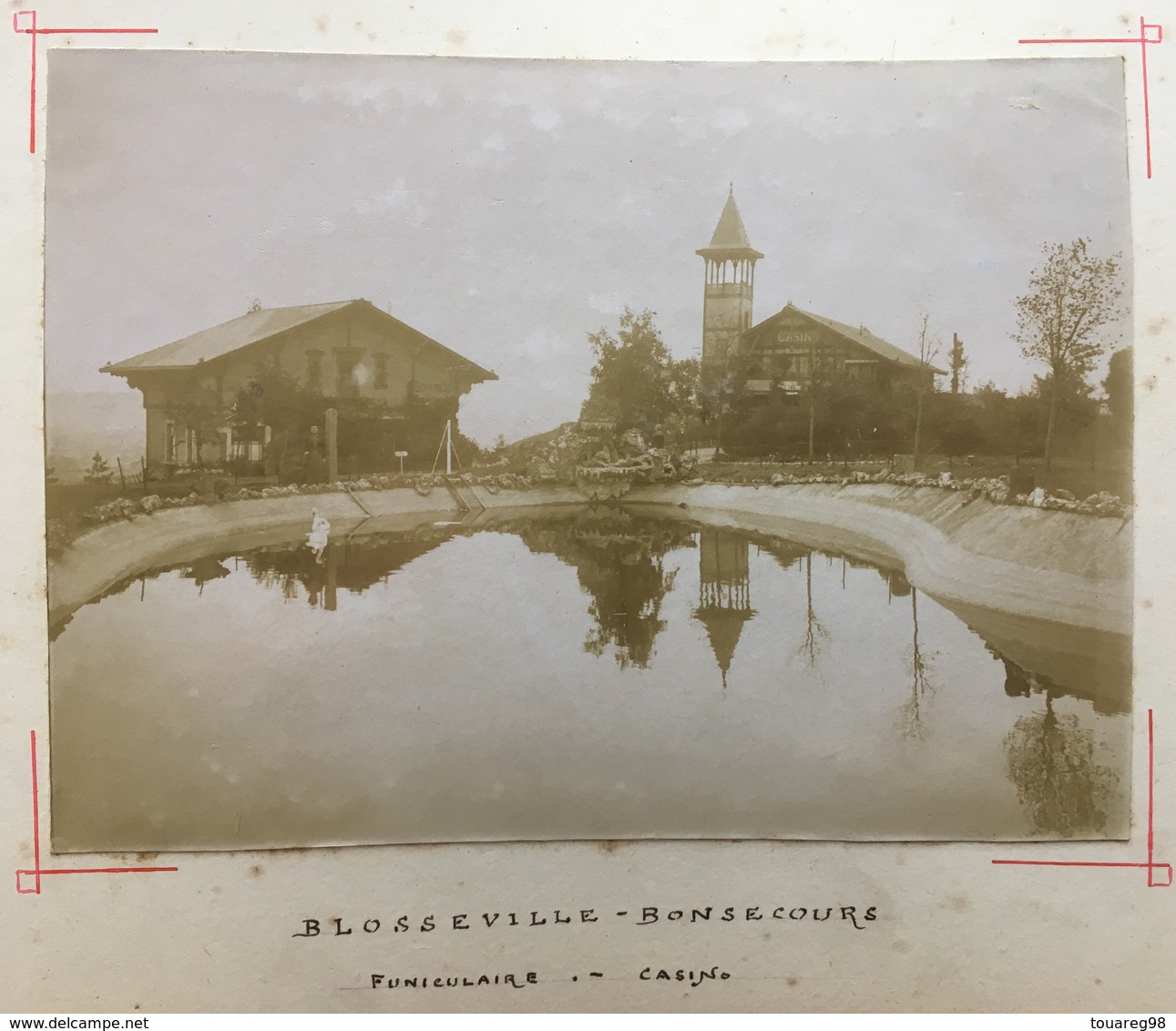 Citrate Vers 1900. Blosseville-Bonsecours. Funiculaire. Casino. Reflet. - Anciennes (Av. 1900)