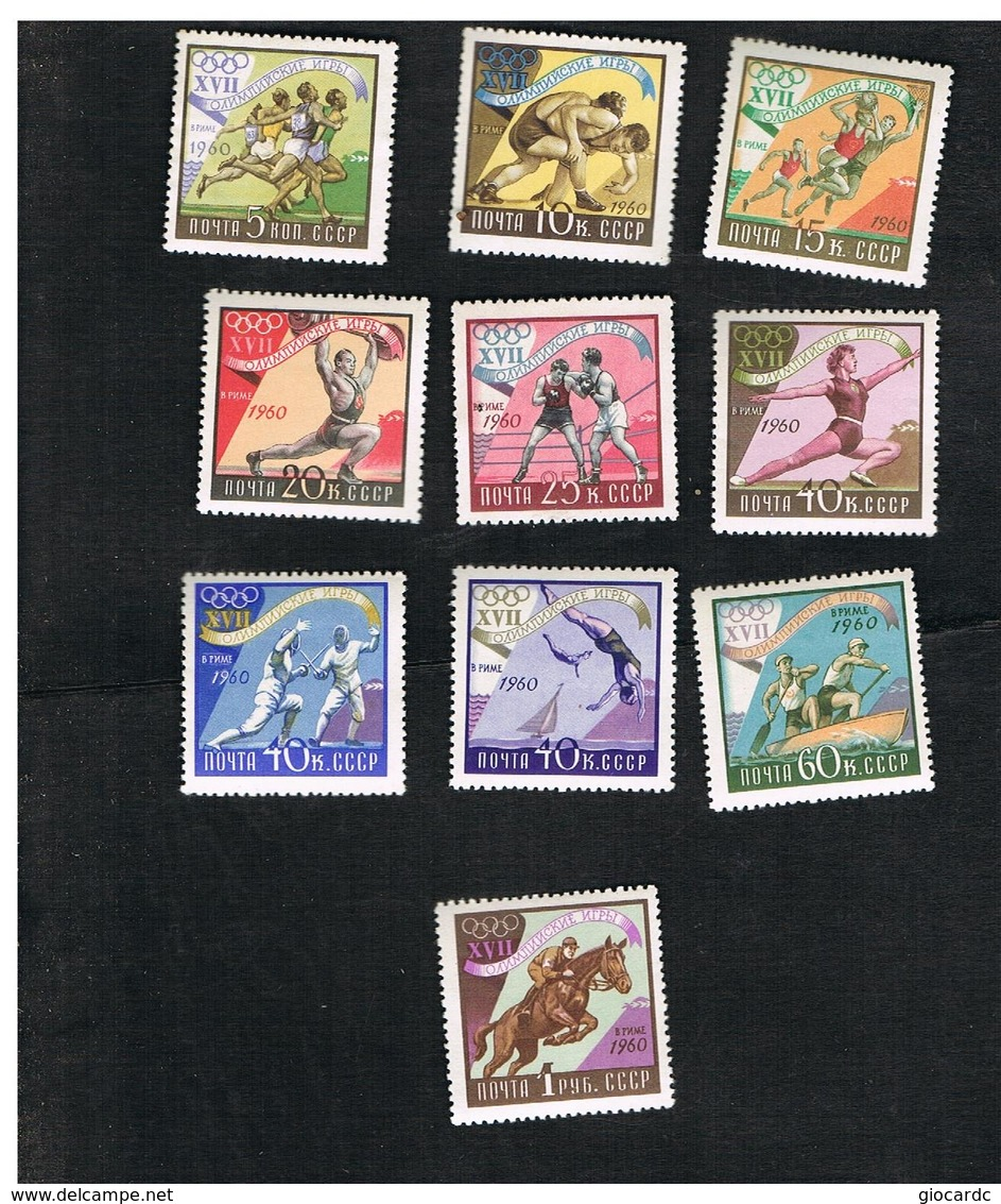 URSS -  SG 2467.2475  -  1960   -  OLYMPIC GAMES (COMPLET SET OF 10)   - MINT** - 1923-1991 URSS