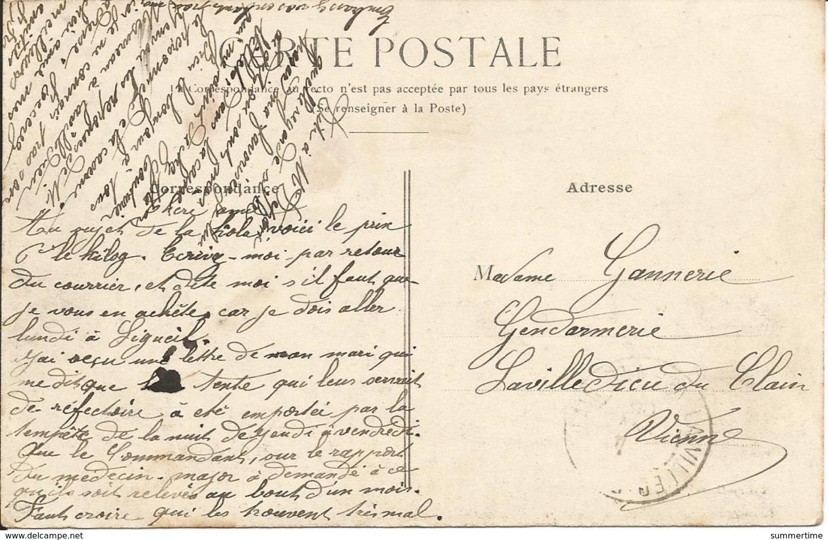 PORT-DE-PILES  ( Vienne )  -  La  Gare  /  Carte  Expédiée  à  La  Gendarmerie  De  Lavilledieu  Du  Clain  ( Vienne ) - Autres Communes