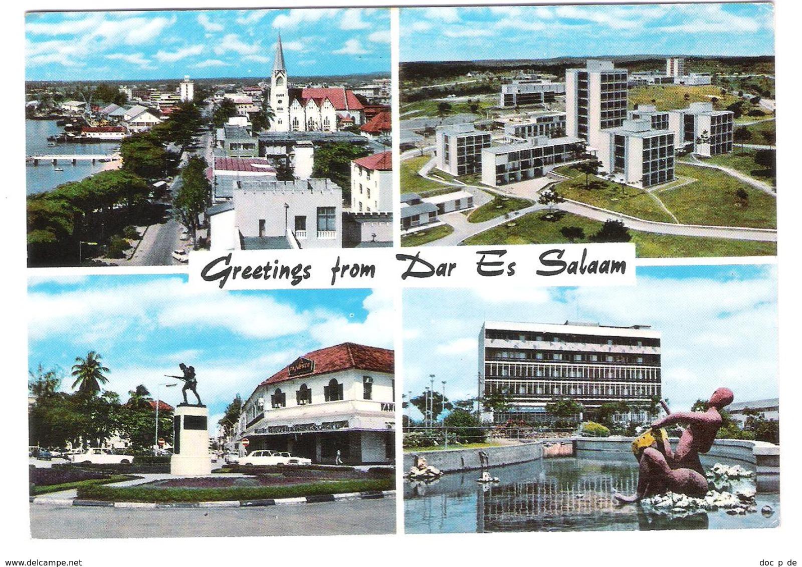 Tanzania - Dar Es Salaam - Nice Fish Stamp Stamps Timbre Timbres - Old Views - Tansania