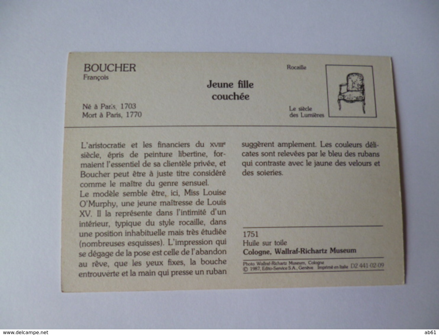 Jeune Fille Nue Couchée  ( De Francois Boucher ) Ne A Paris 1703 Mort A Paris 1770 - Paintings