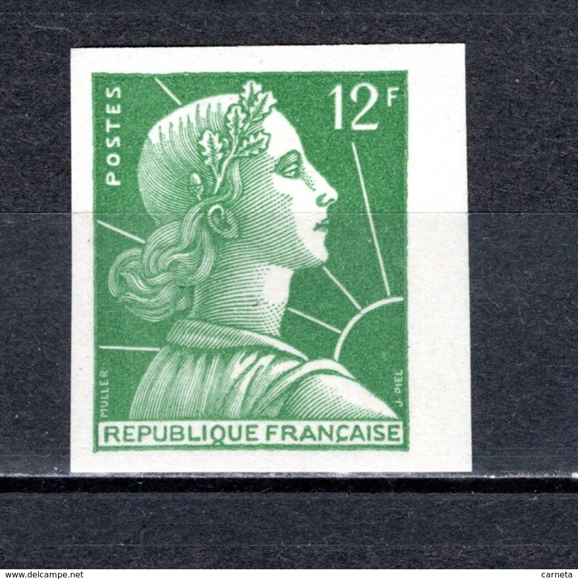 FRANCE  N° 1010b  NON DENTELE NEUF SANS CHARNIERE  COTE 270.00€  MARIANNE DE MULLER - France