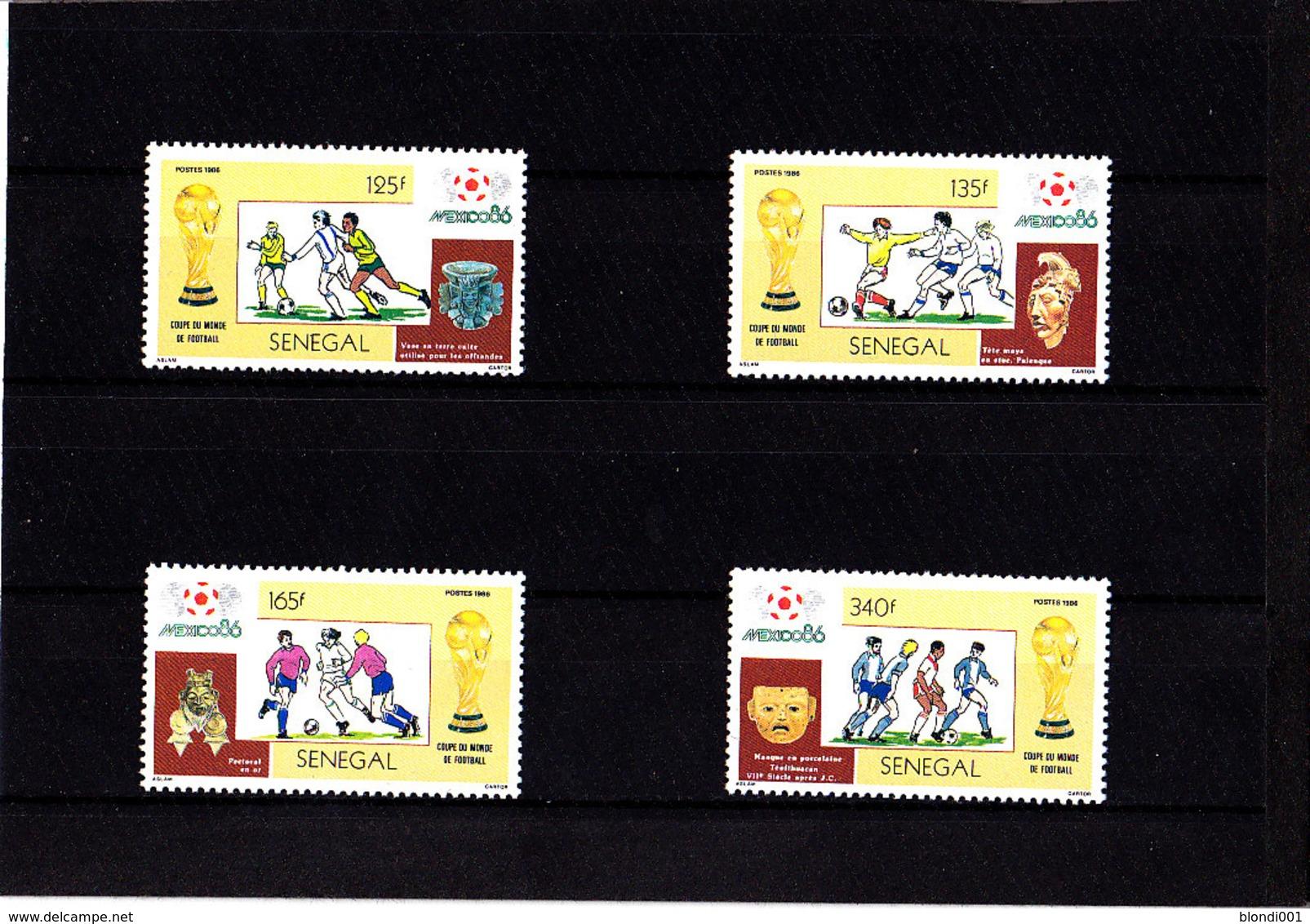 Soccer World Cup 1986 - SENEGAL - Set MNH** - Fußball-Weltmeisterschaft