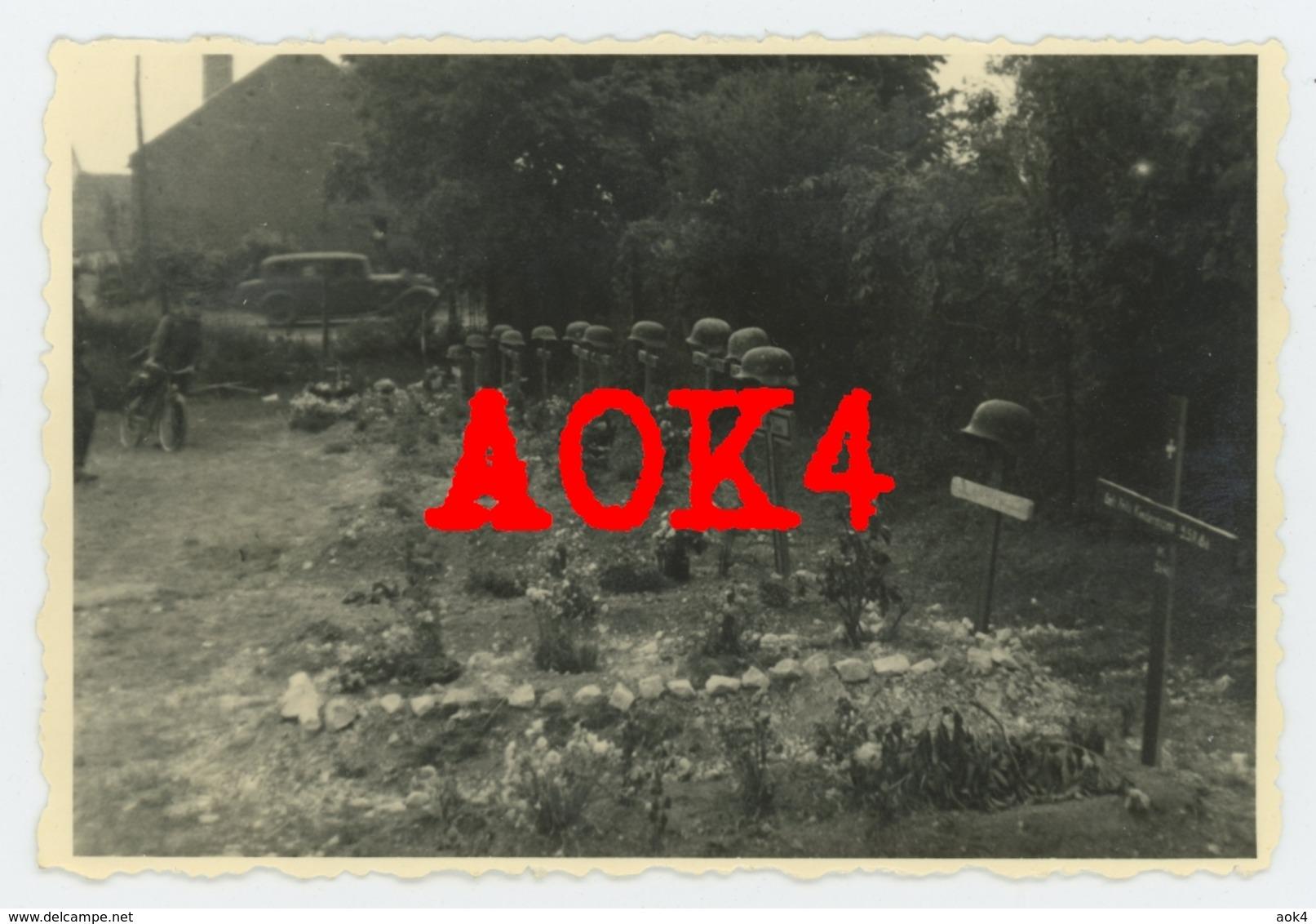 80 Somme AMIENS Tombe Allemande Wehrmacht 1940 10. Panzer Division Schützen Regiment 86 Nordfrankreich - Guerra, Militari