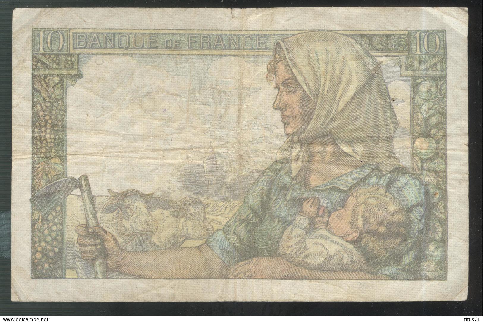 Billet 10 Francs France Mineur 4-12-1947 Bon état - 10 F 1941-1949 ''Mineur''