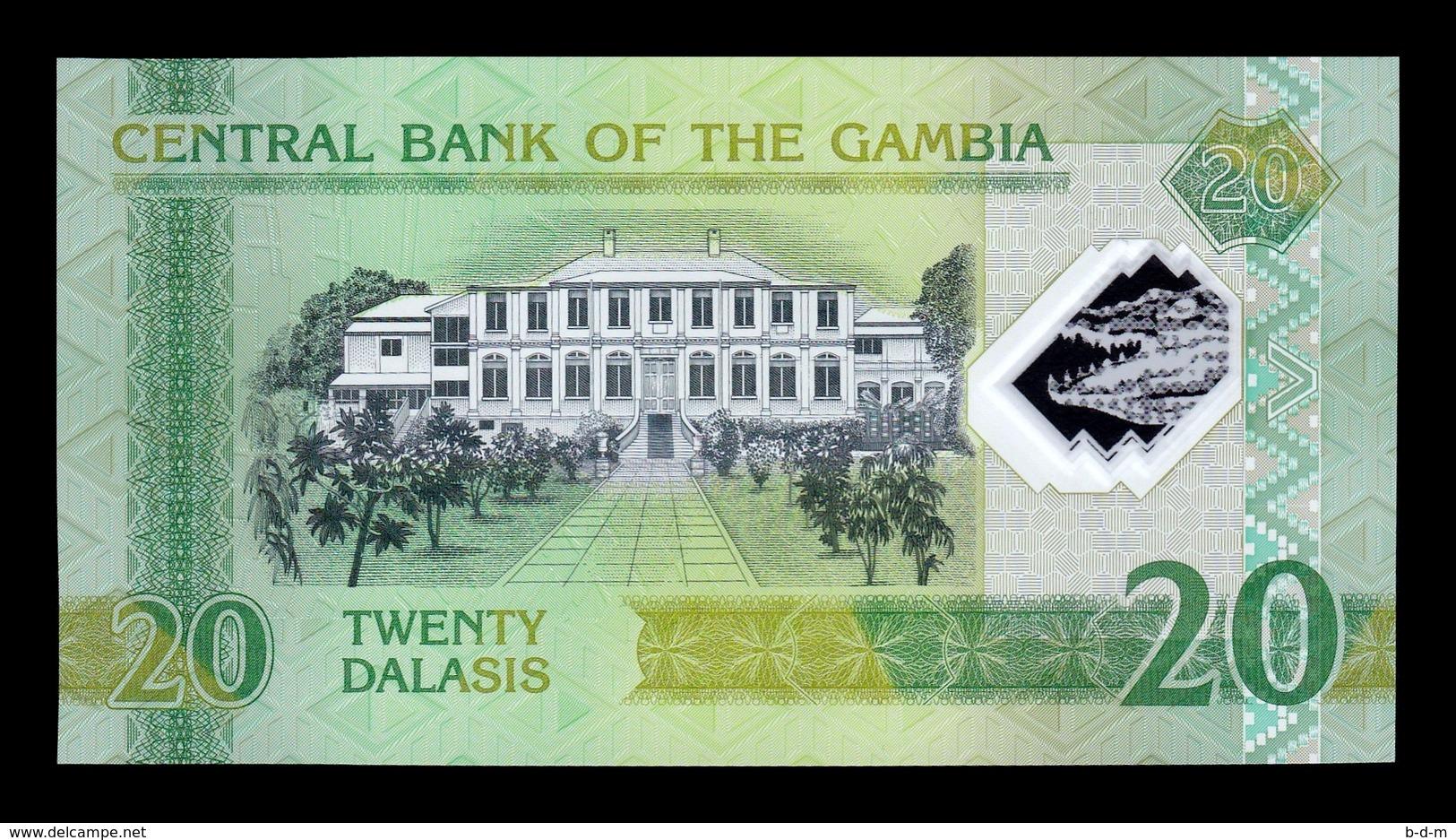 Gambia Lot Bundle 10 Banknotes 20 Dalasis 2014 Pick 30 Polymer SC UNC - Gambia