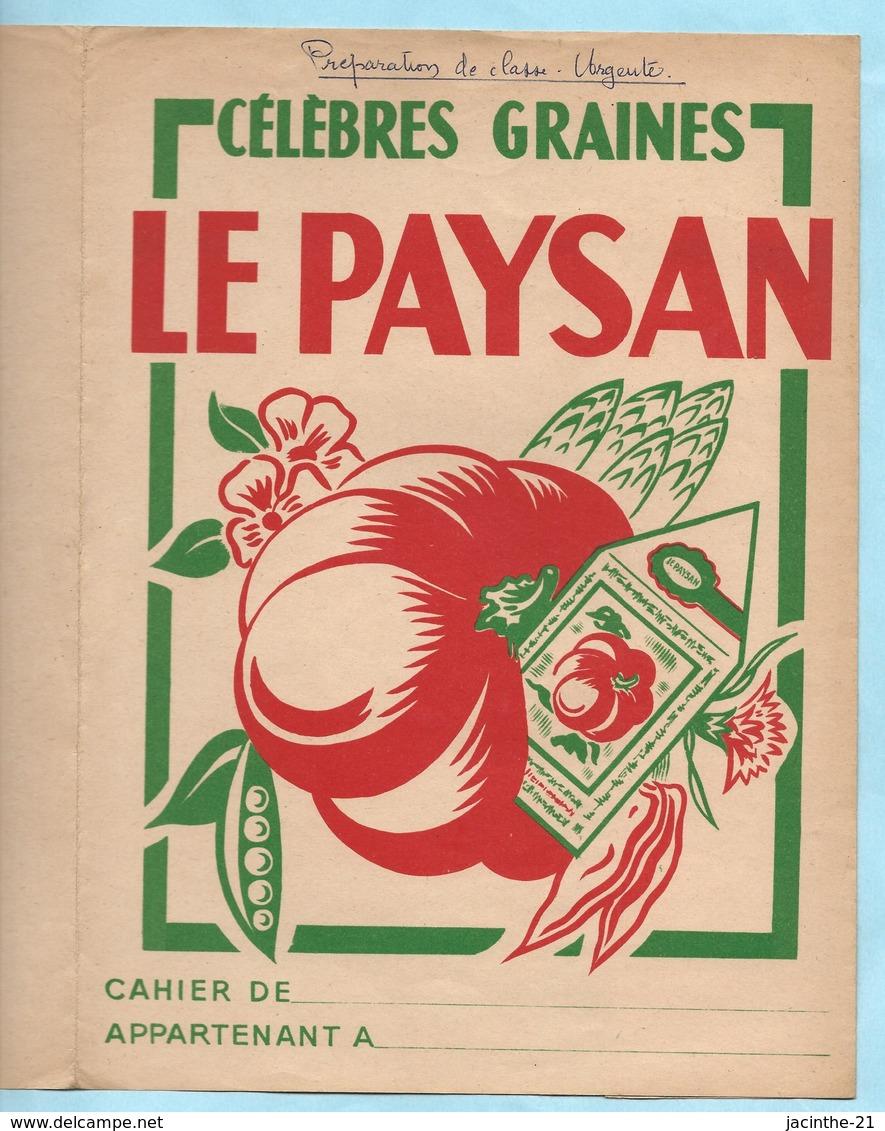 Protège Cahier / Célèbres Graines LE PAYSAN / Agriculture Semences - Agriculture