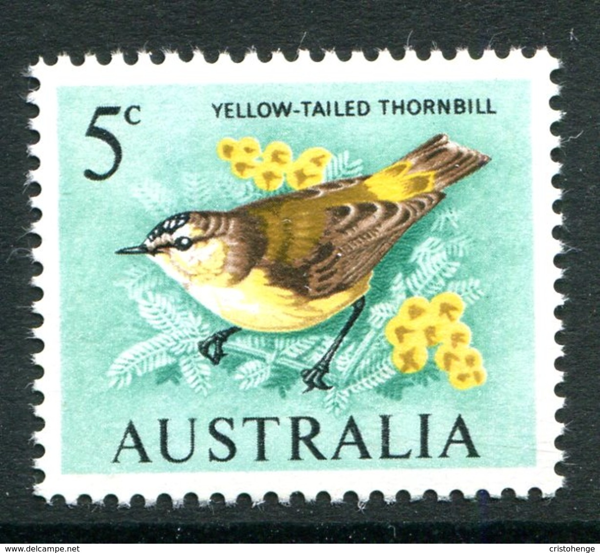 Australia 1966-73 Decimal Currency Definitives - 5c Yellow-tailed Thornbill MNH (SG 386) - 1966-79 Elizabeth II