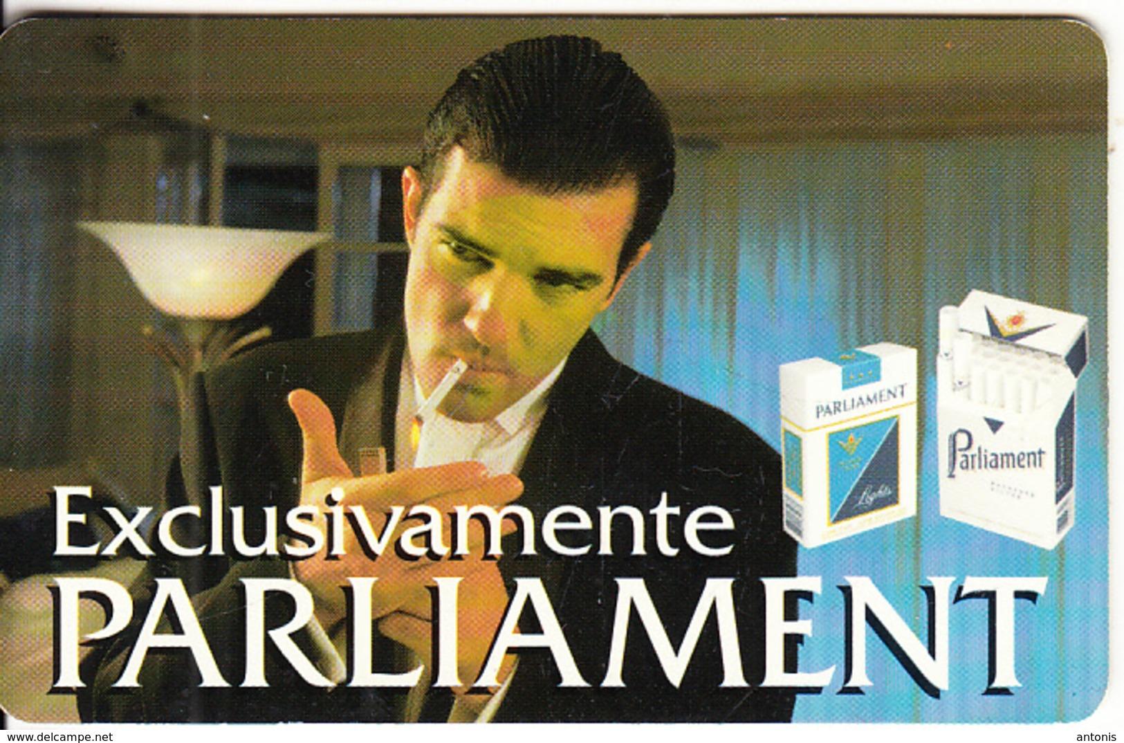 ARGENTINA(chip) - Parliament Cigarettes, Telefonica Telecard(P 8), 10/96, Used - Argentina