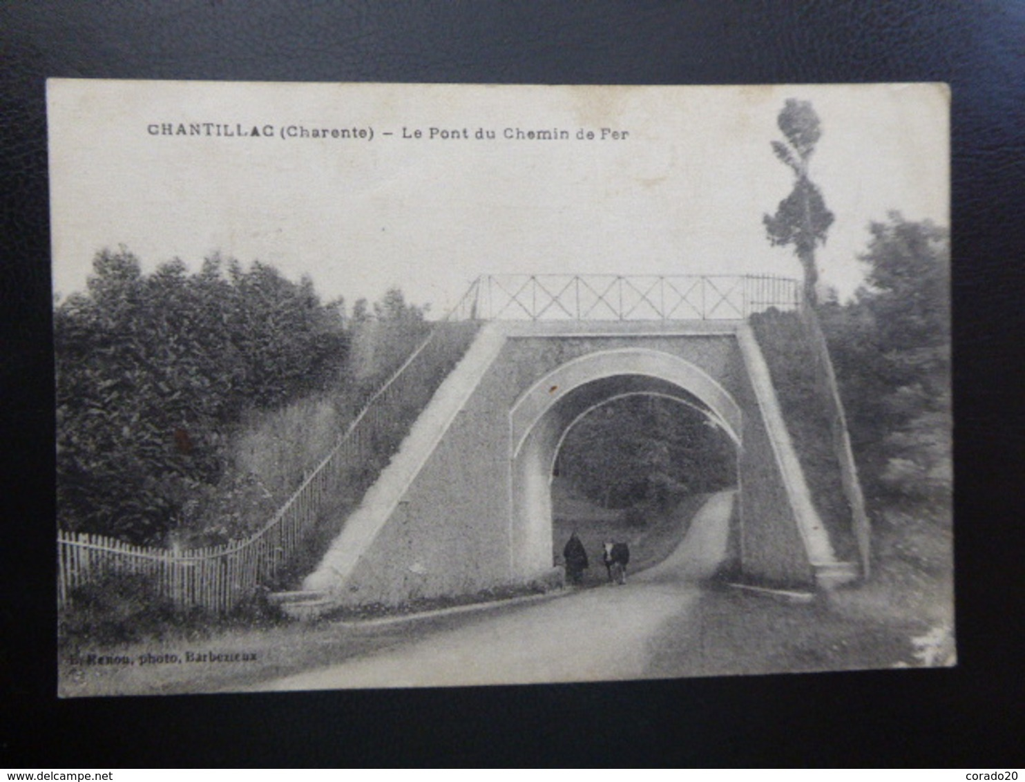 CHANTILLAC (Charente) Le Pont Du Chemin De Fer - Ecrite - Francia