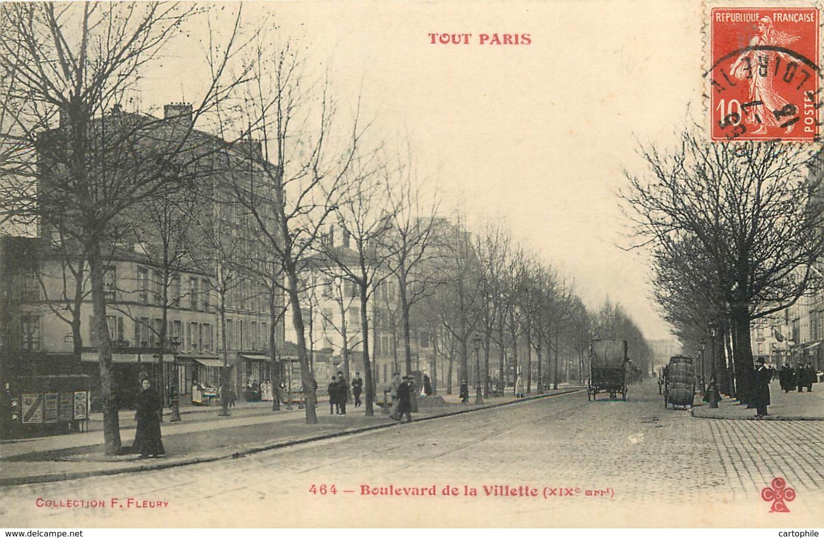 75019 - PARIS - Boulevard De La Villette - TOUT PARIS 464 - District 19