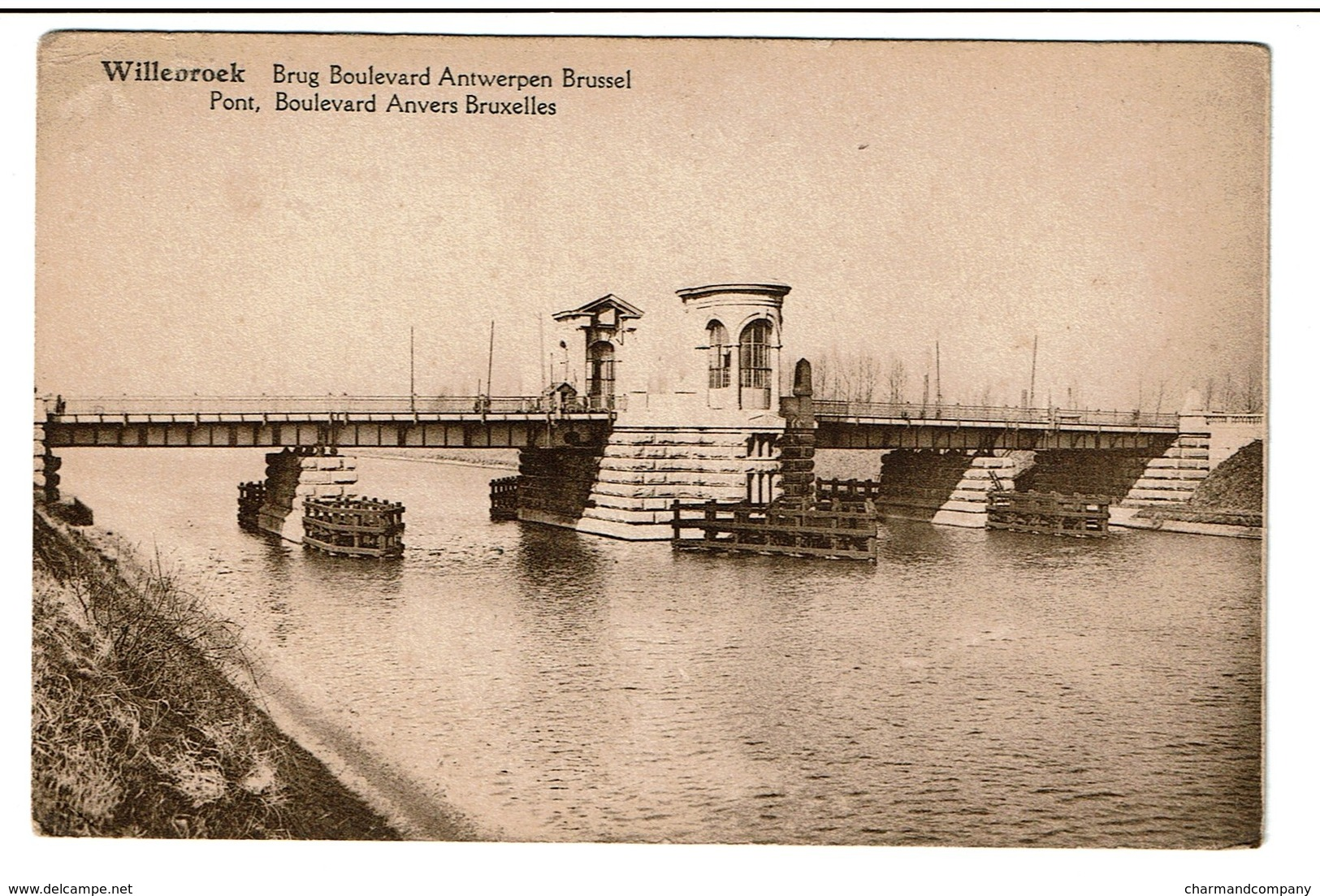 Willebroek - Brug / Pont - Boulevard Antwerpen Brussel / Anvers Bruxelles - Uitg. F. Van Dievoort-Wynants - 2 Scans - Willebroek