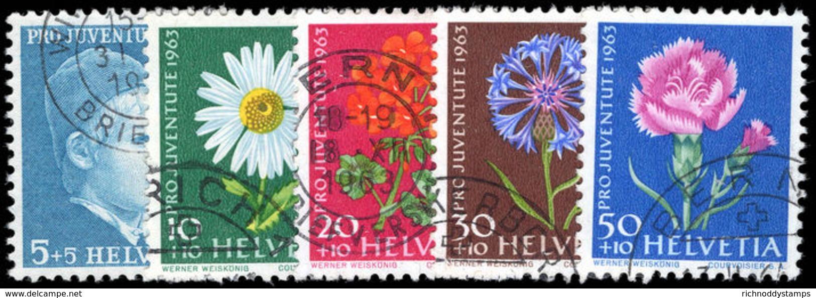 Switzerland 1963 Pro-Juventute Phosphorescent Paper Fine Used. - Pro Juventute