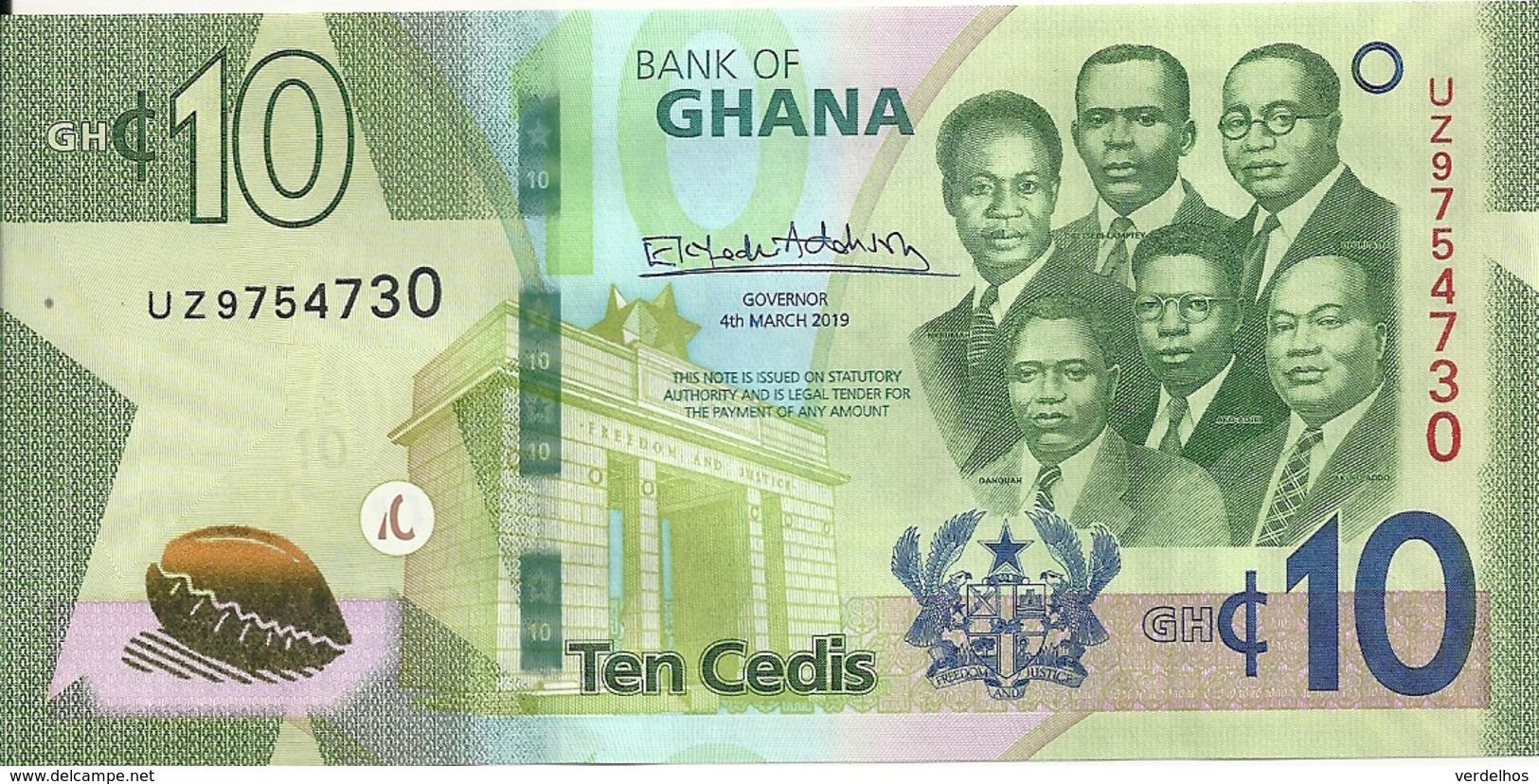 GHANA 10 CEDIS 2019 UNC P New - Ghana