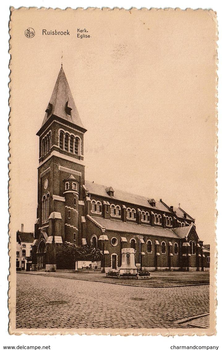 Ruisbroek - Kerk / Eglise - Circulée - Uitg. P. Roosens-Pornel - 2 Scans - Andere