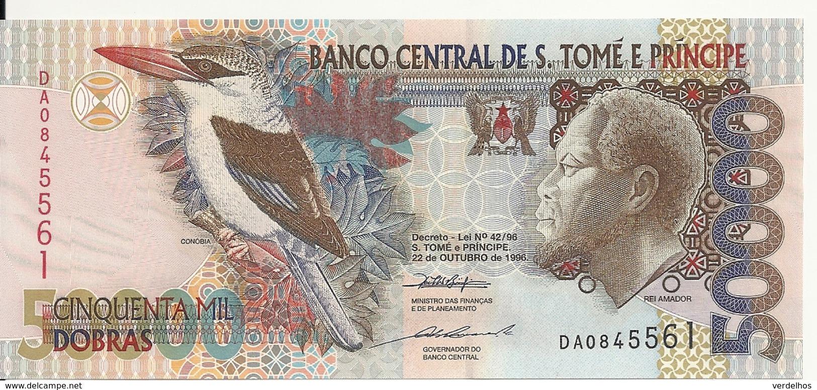 SAO TOME ET PRINCIPE 50000 DOBRAS 1996 UNC P 68 A - Sao Tomé Et Principe