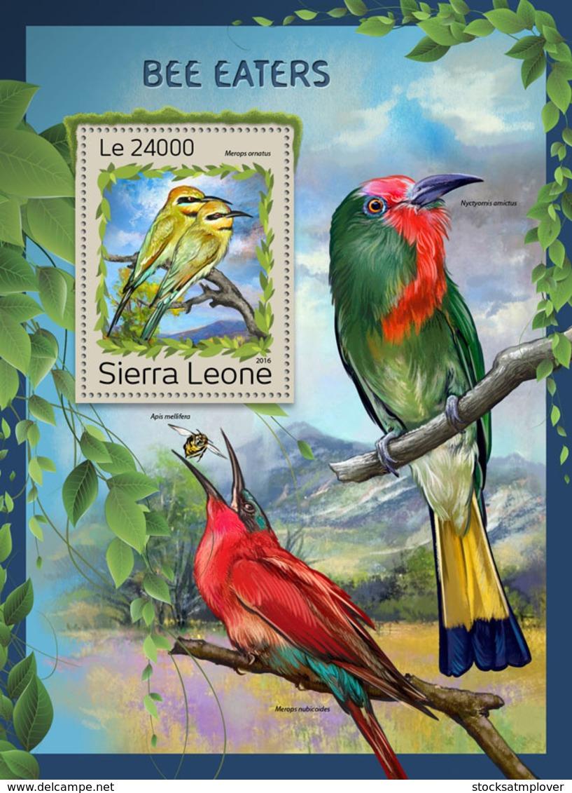 Sierra Leone 2016 Fauna  Bee-eaters ,birds - Sierra Leone (1961-...)