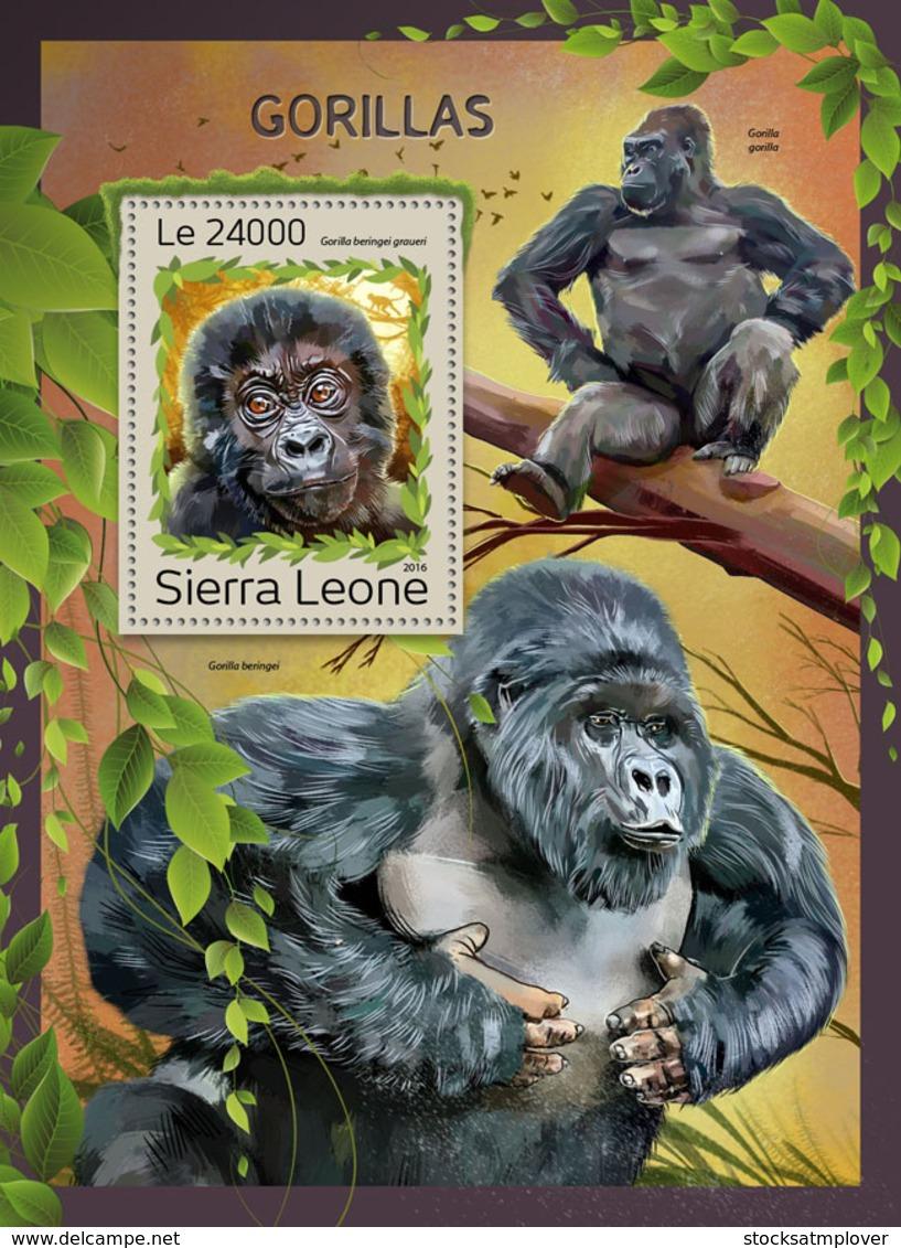 Sierra Leone 2016 Fauna Gorillas - Sierra Leone (1961-...)