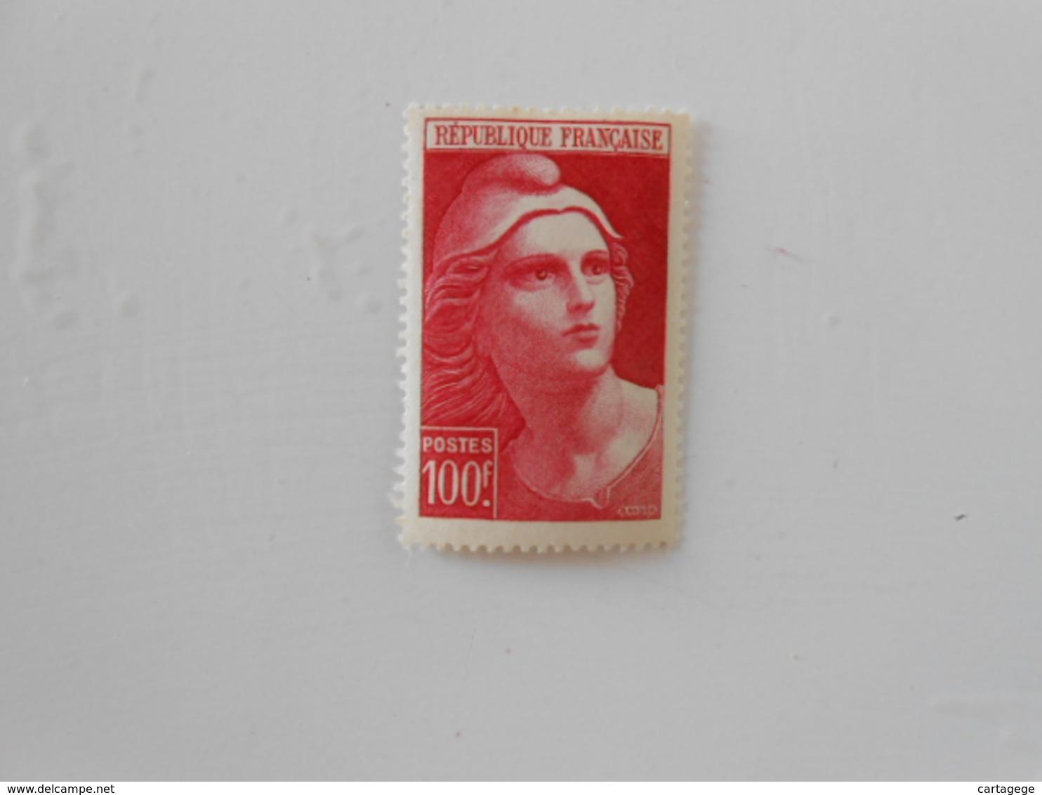 FRANCE YT733a MARIANNE DE GANDON 100f. Rose* - France