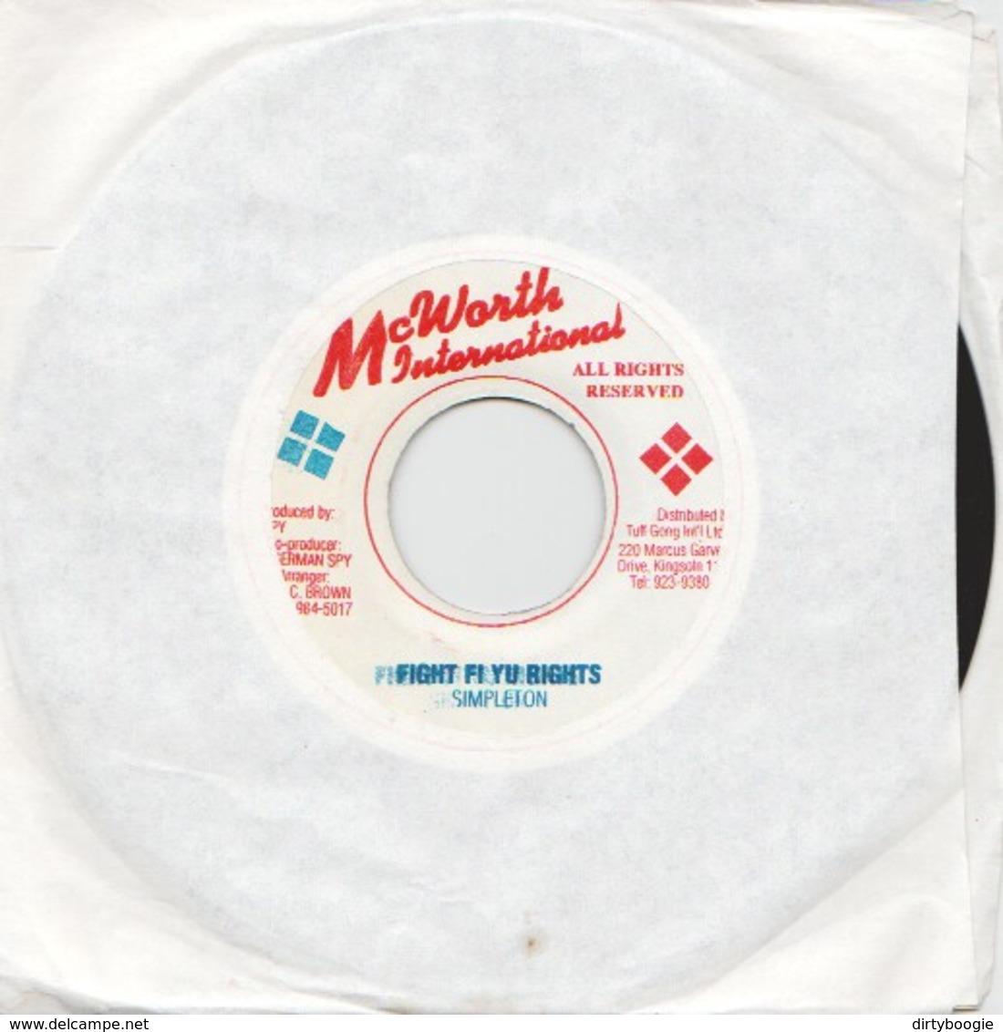 SIMPLETON - Fight Fi Yu Rights - 45t - REGGAE - Reggae