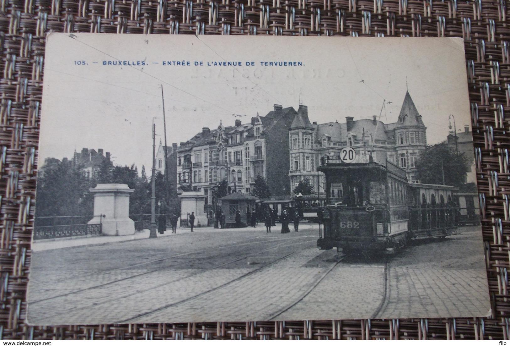 Bruxelles : Etterbeek Entrée De L'avenue De Tervueren Tram Gros Plan - Etterbeek