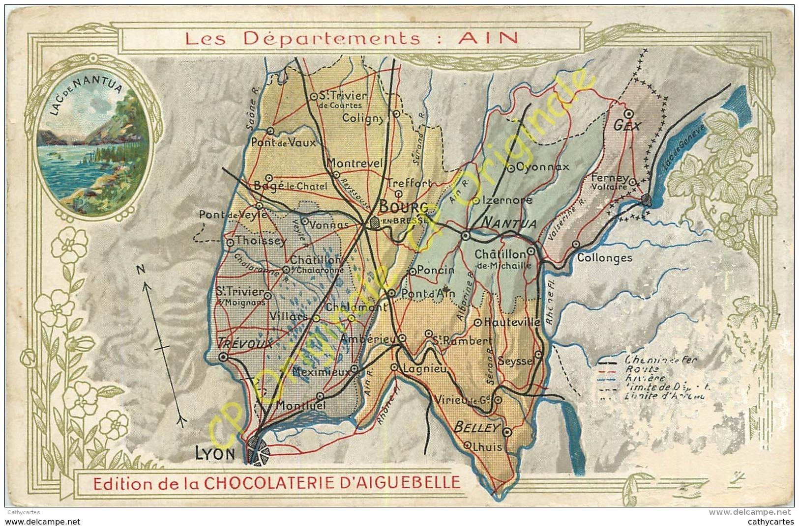 01.  Les Départements :  AIN .  CPA Chocolaterie D'AIGUEBELLE . - France
