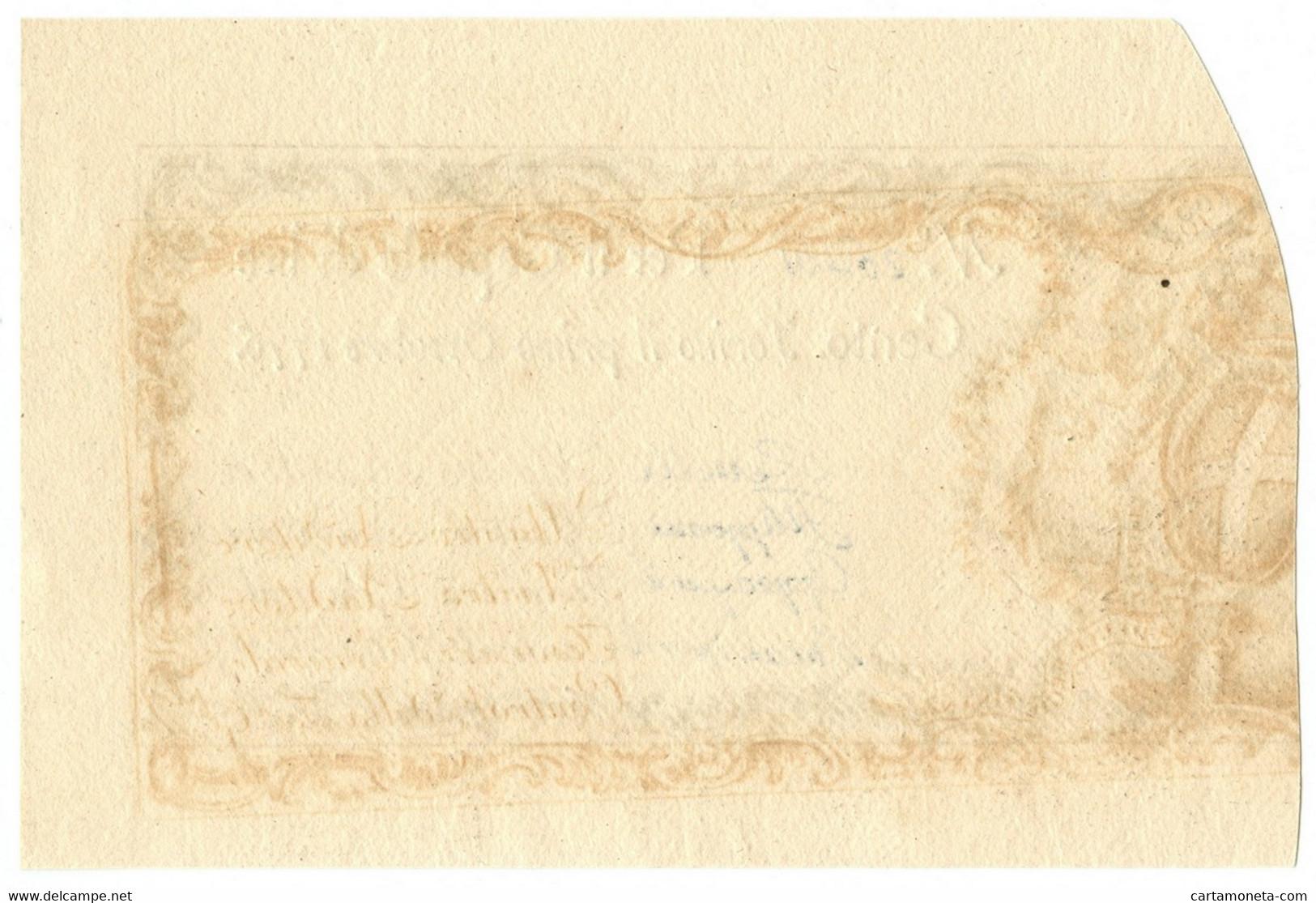 100 LIRE REGIE FINANZE TORINO REGNO DI SARDEGNA 01/10/1776 QFDS - Altri