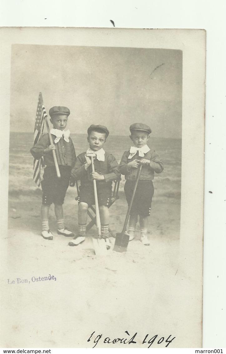 Oostende - Studiofoto - Le Bon - Verzonden 1904 - Oostende
