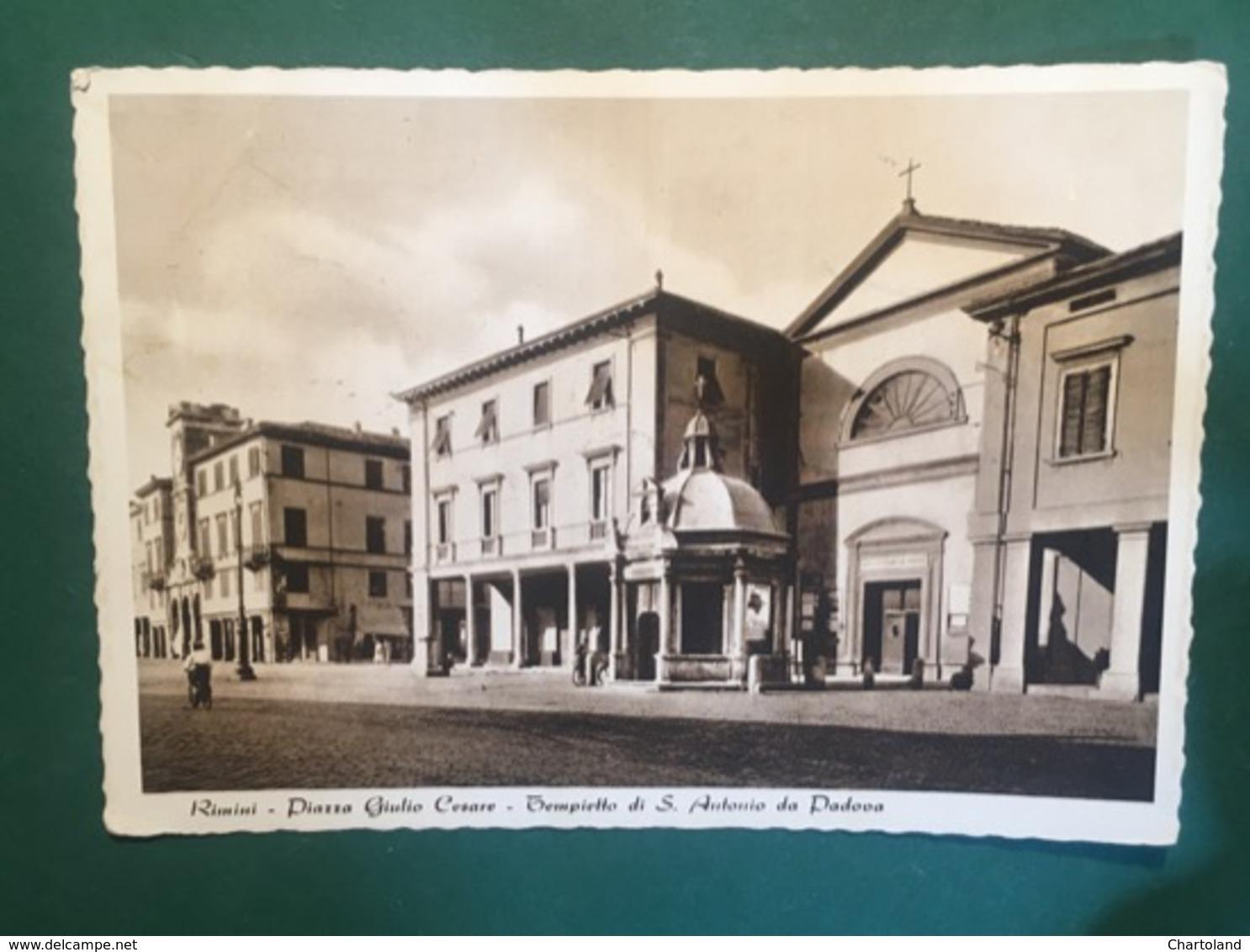 Cartolina Rimini - Piazza Giulio Cesare - Tempesto Di S. Antonio - 1943 - Rimini