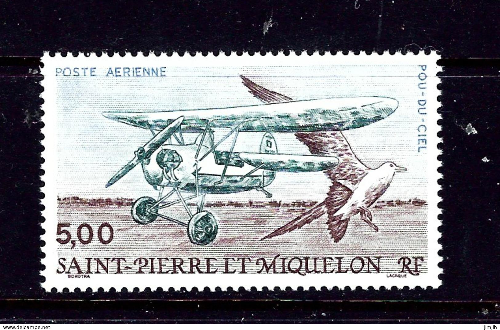 St Pierre And Miquelon C66 1990 MNH Plane And Bird - St.Pierre & Miquelon