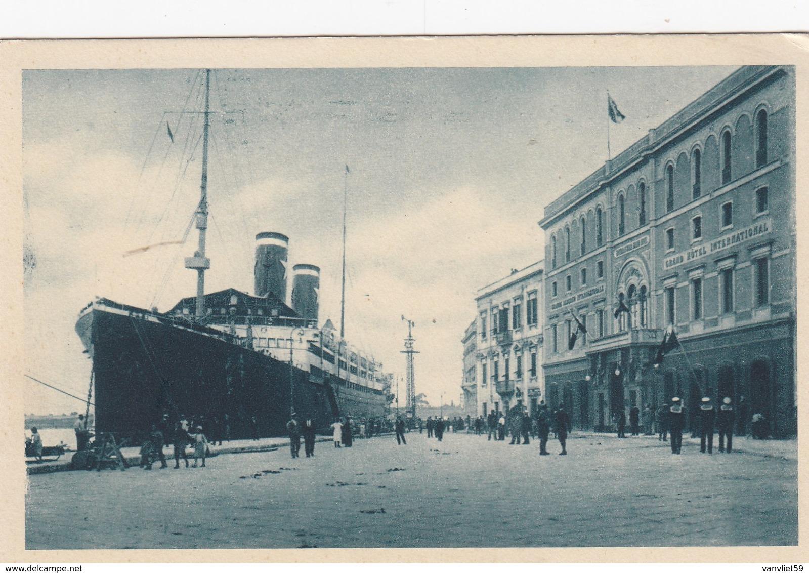 BRINDISI- HOTEL INTERNAZIONALE-TRANSATLANTICO IN PP-CARTOLINA NON VIAGGIATA -ANNO 1920-1930 - Brindisi