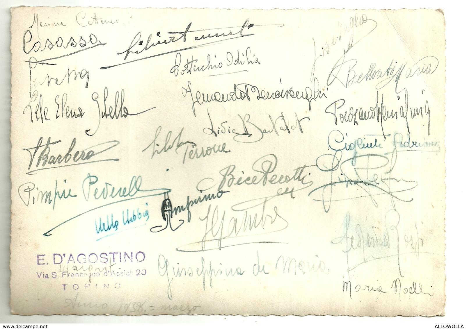 """4571 """" RICORDO SCOLASTICO CLASSE FEMMINILE ANNO 1938 - LUOGO IMPRECISATO """"ANIMATA-FOTO ORIGINALE - Persone Identificate"""