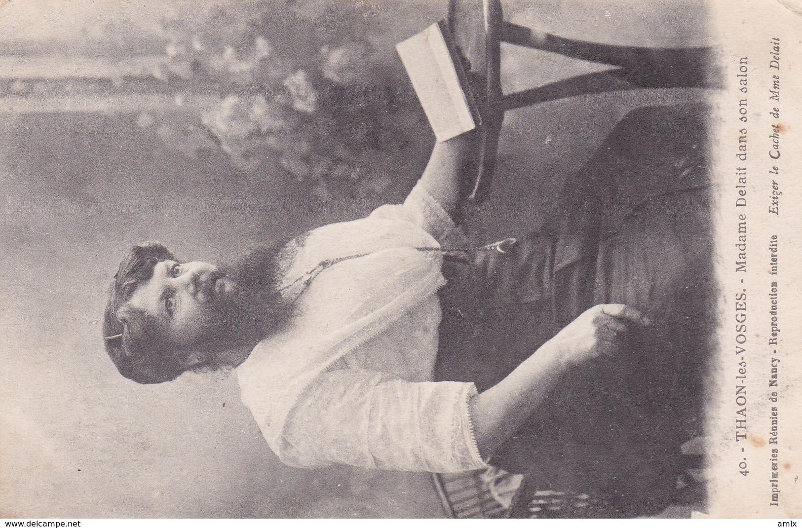88. Thaon-les-Vosges. Mme Delait. Femme à Barbe. Scans Recto/verso - Thaon Les Vosges