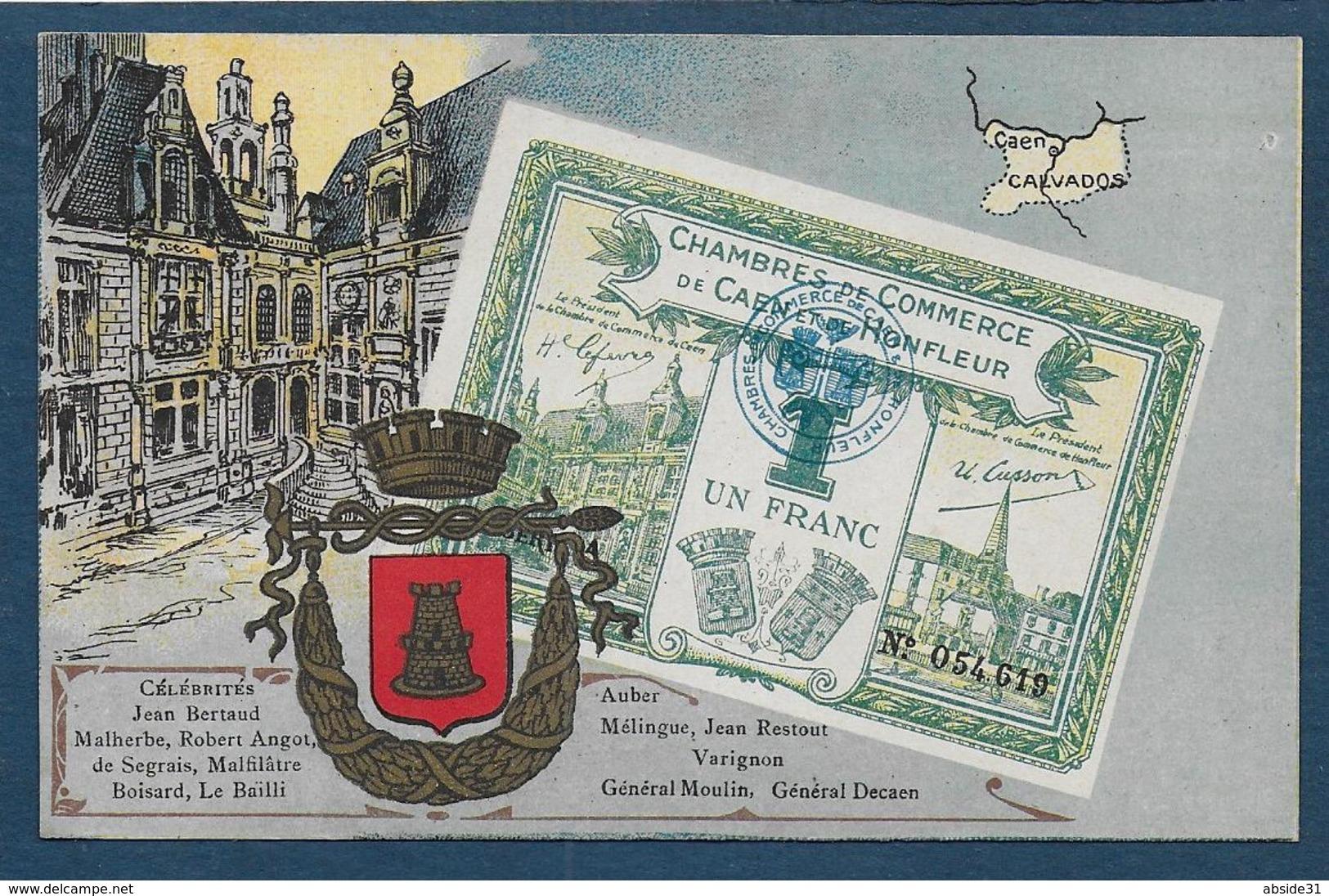 Billet De 1 Franc - Chambres De Commerce De Caen Et De Honfleur - Caen