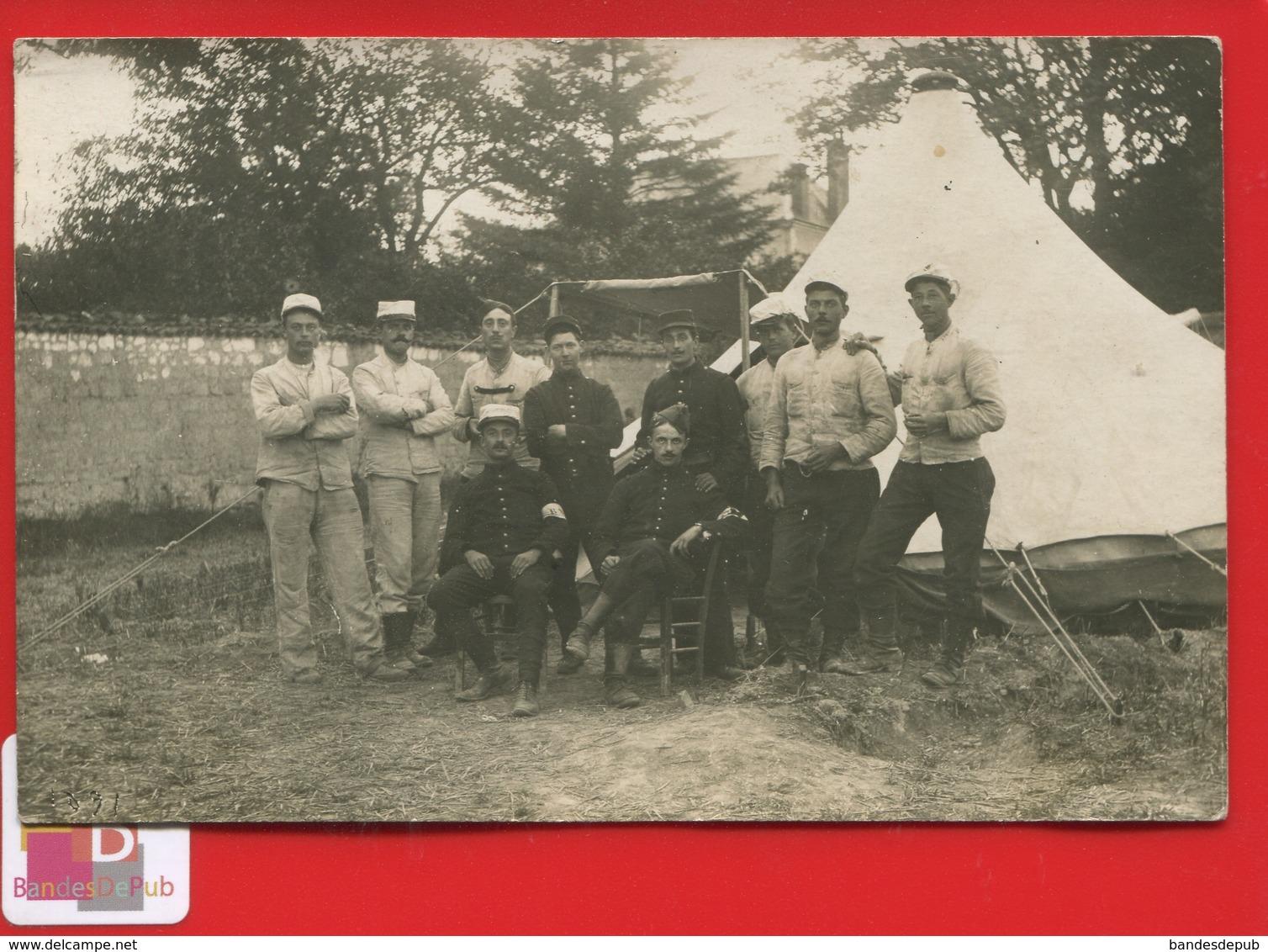 CARTE PHOTO Camp WITRY LES REIMS Aout 1912 Militaria Militaire Dont Gradés Caporal 3 ème Génie - Other Municipalities