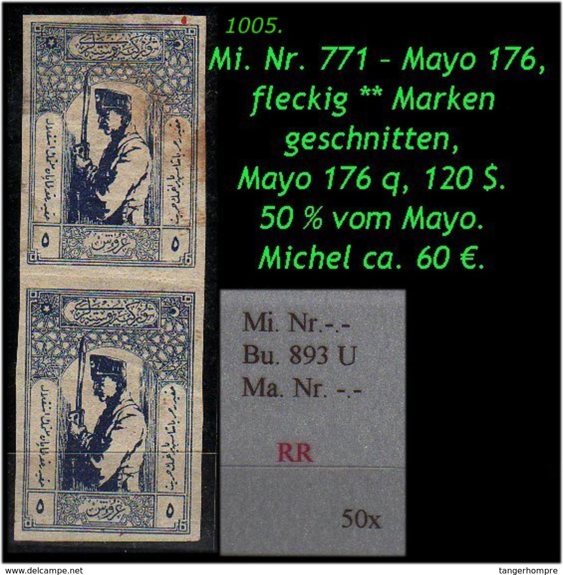 EARLY OTTOMAN SPECIALIZED FOR SPECIALIST, SEE...Mi. Nr. -.- - Burak 893 U - Mayo 176 -R- - Nuevos