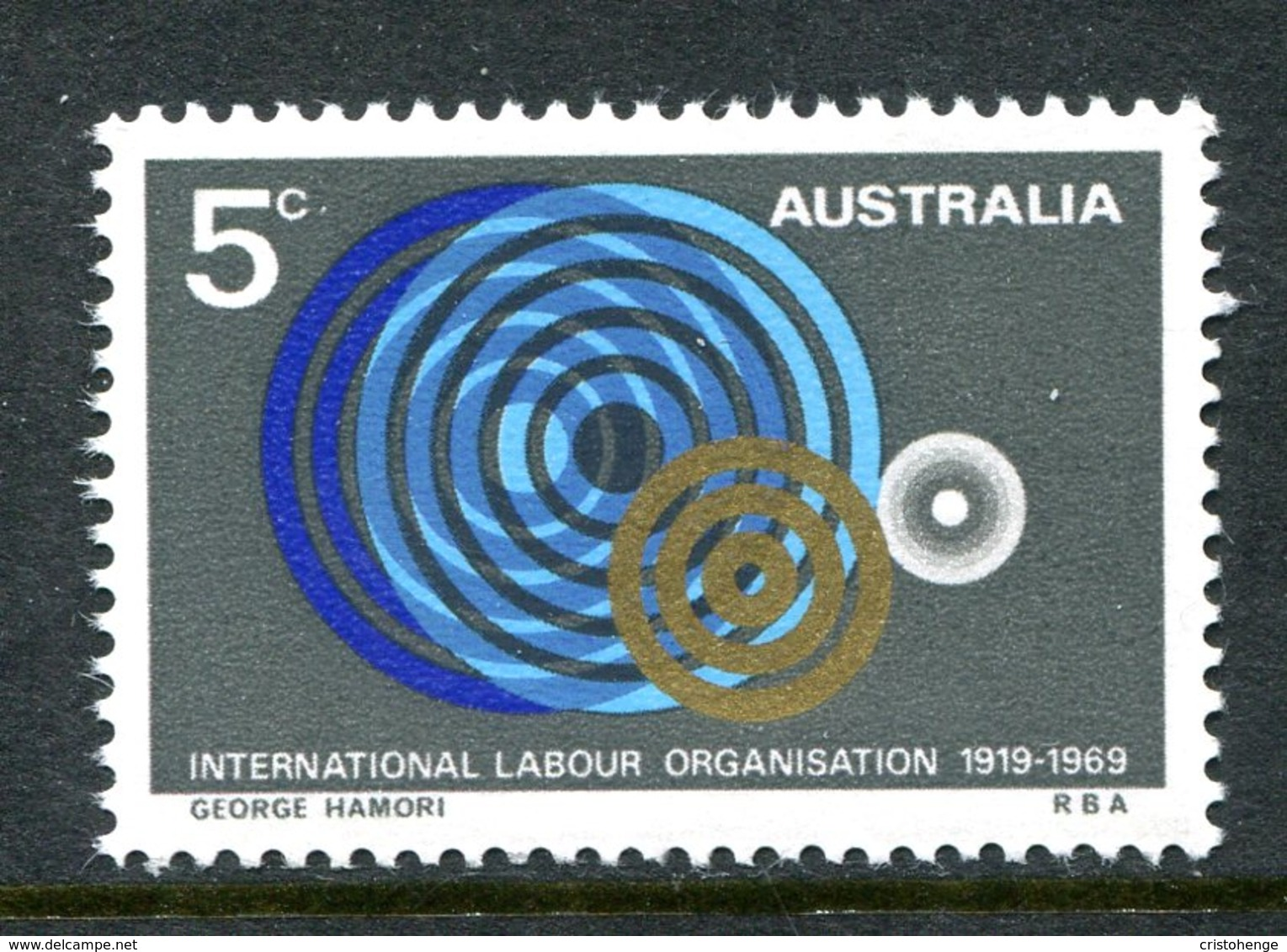 Australia 1969 50th Anniversary Of International Labour Organisation MNH (SG 439) - 1966-79 Elizabeth II