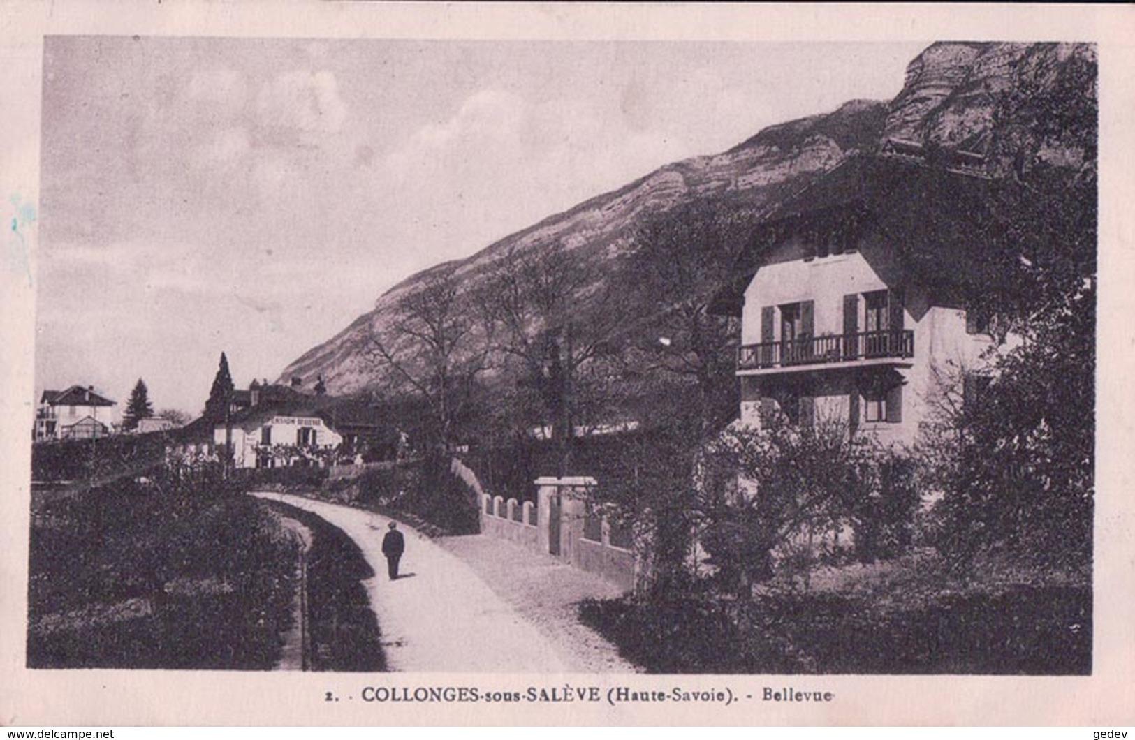 France 74, Collonges Sous Salève, Café Pension Bellevue (2) - France