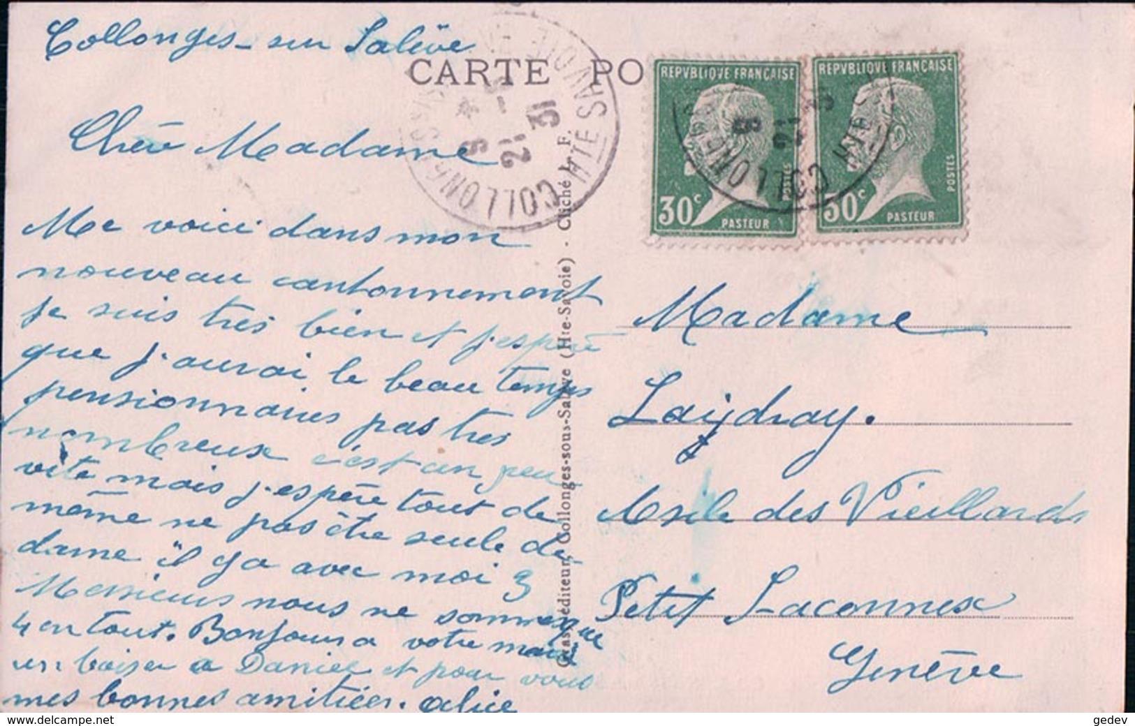 France 74, Collonges Sous Salève, Café Pension Bellevue (2) - Autres Communes