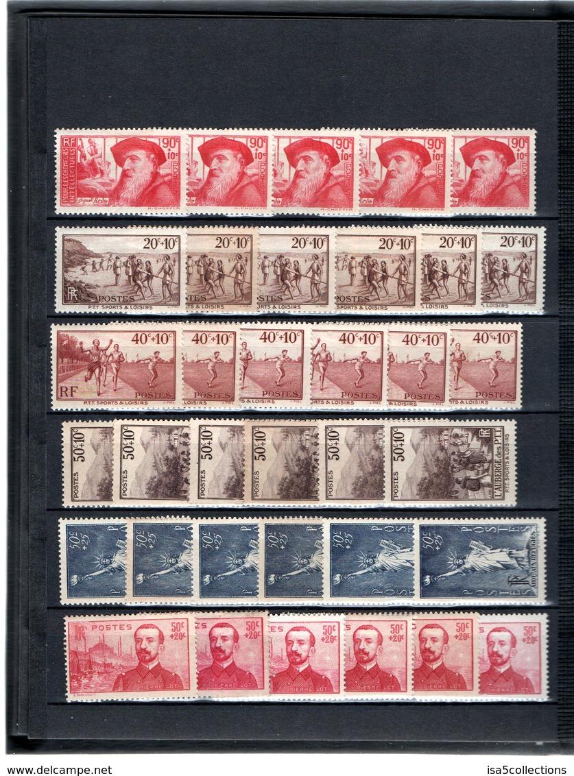 Stock 1924-1938 - Neufs */** - Cote: 4469,60 € - 16 Scans - Lire Descriptif - MH/MNH - France