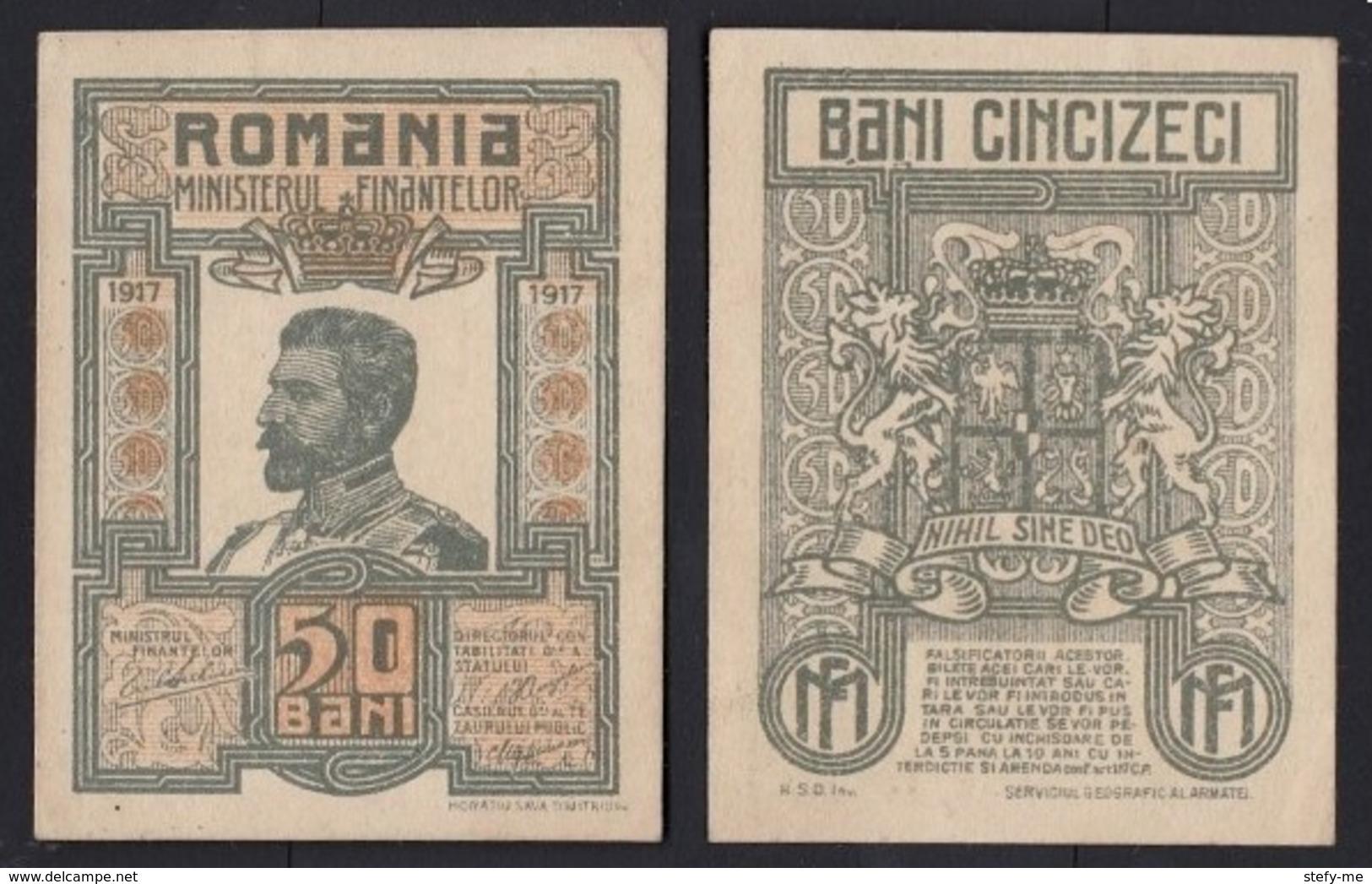Banknote  25 Bani 1917 -Romania AUNC - Romania