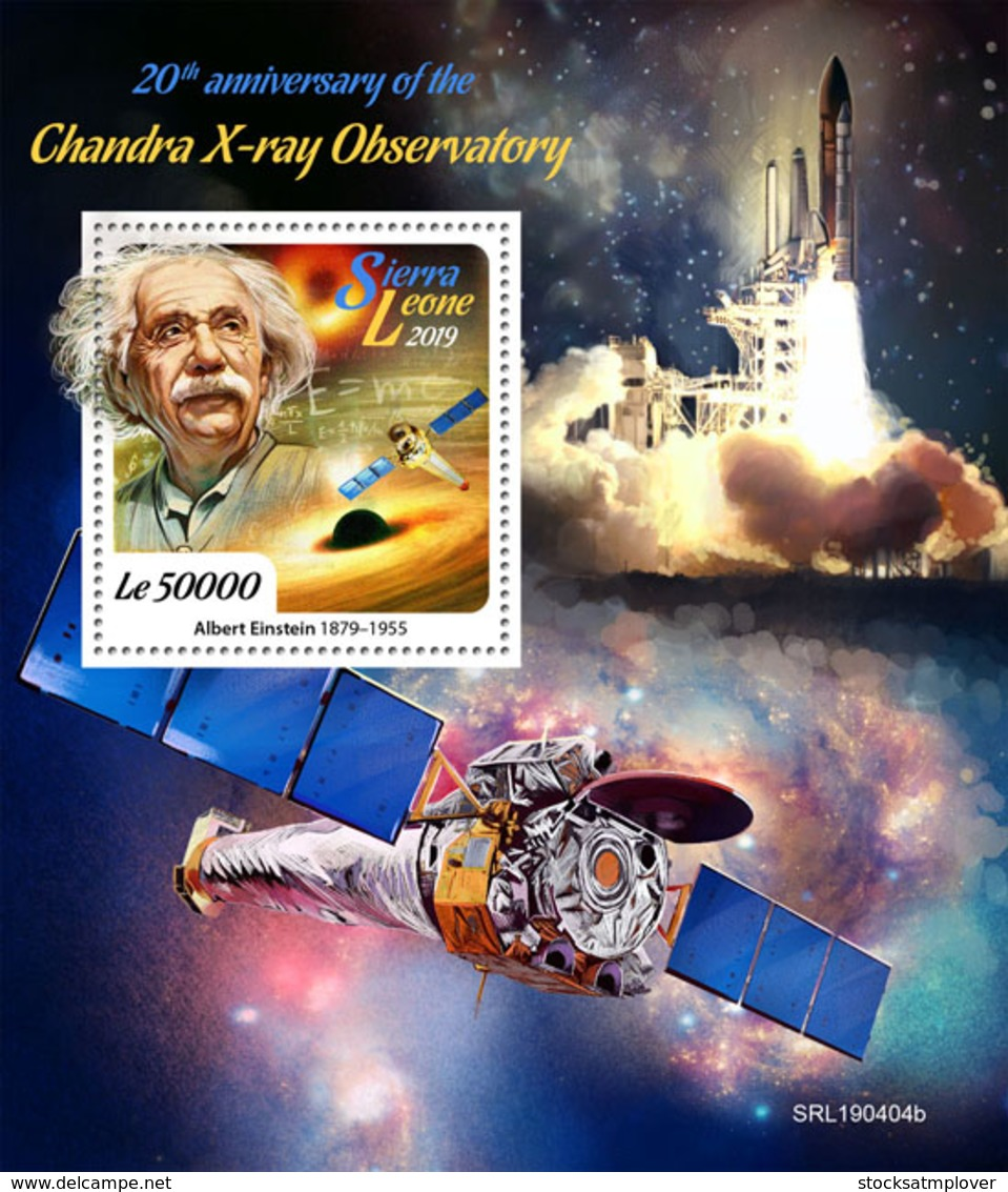 Sierra Leone 2019    Chandra X-ray Observatory, Albert Einstein   S201904 - Sierra Leone (1961-...)
