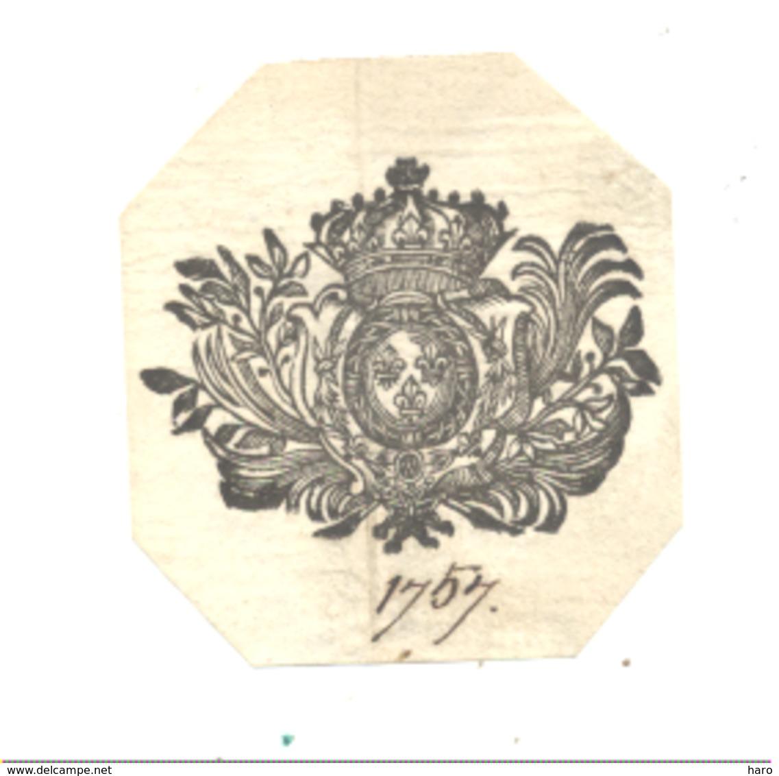Armoiries, Blason  Daté De 1757 ( Sur Papier Certainement D'origine )  (fr81) - Historical Documents