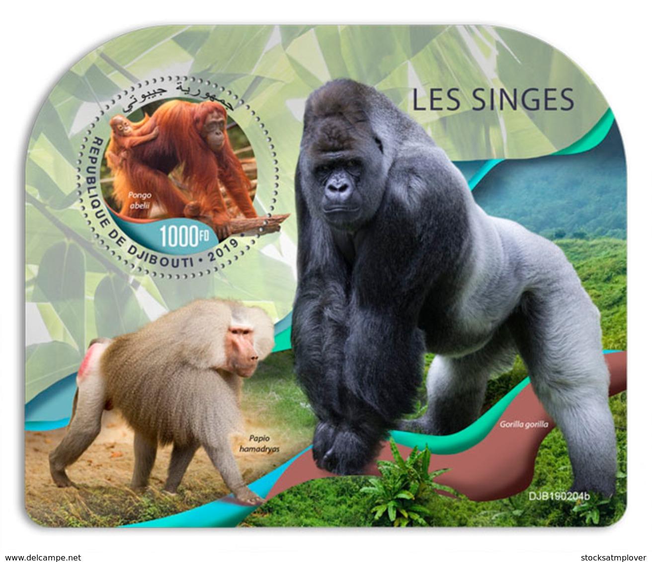 Djibouti  2019  Fauna Monkeys  Gorilla   S201904 - Djibouti (1977-...)